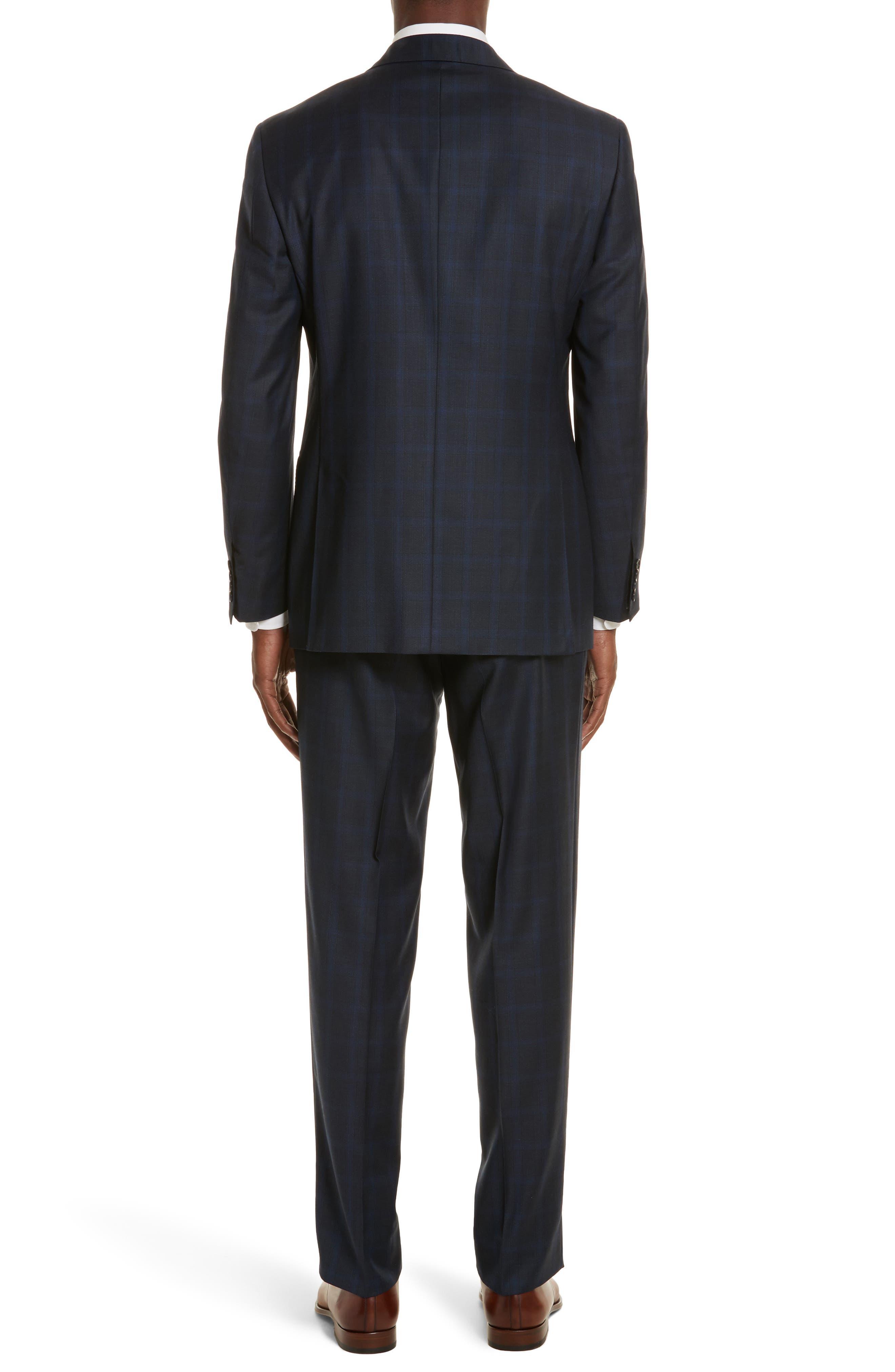 Classic Fit Plaid Wool Suit,                             Alternate thumbnail 2, color,                             400