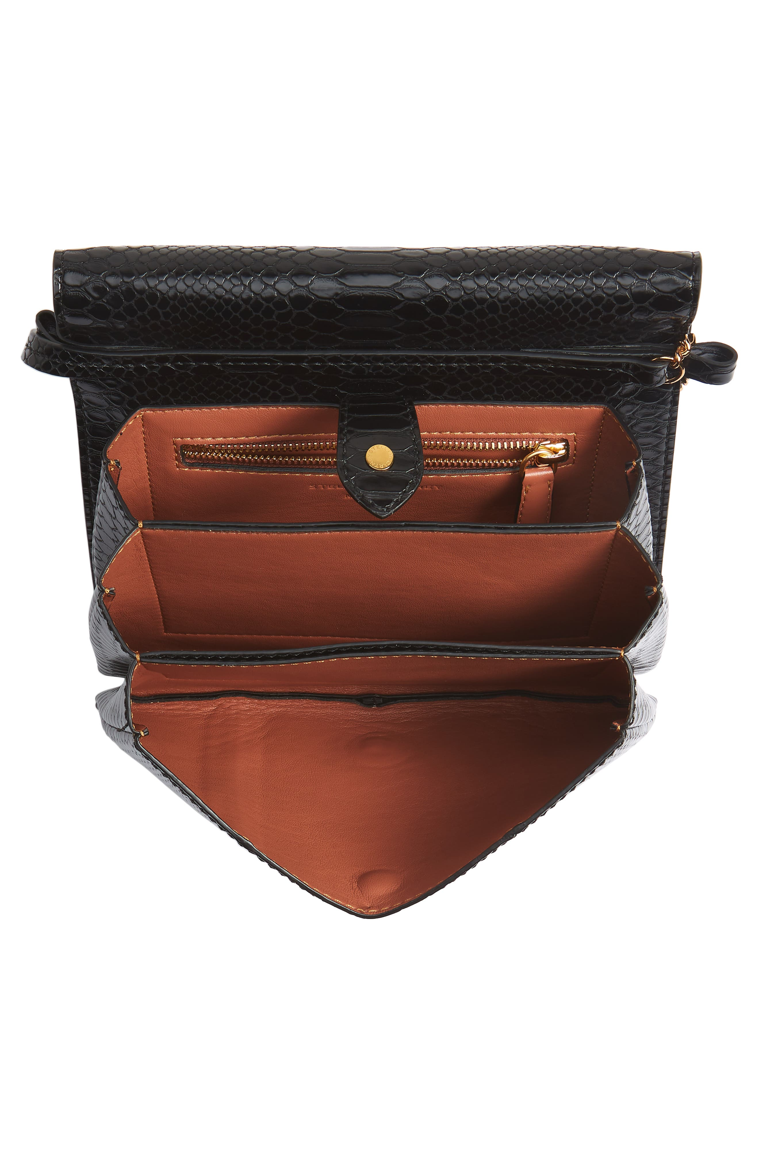 Small Flo Alter Snake Faux Leather Shoulder Bag,                             Alternate thumbnail 5, color,                             001