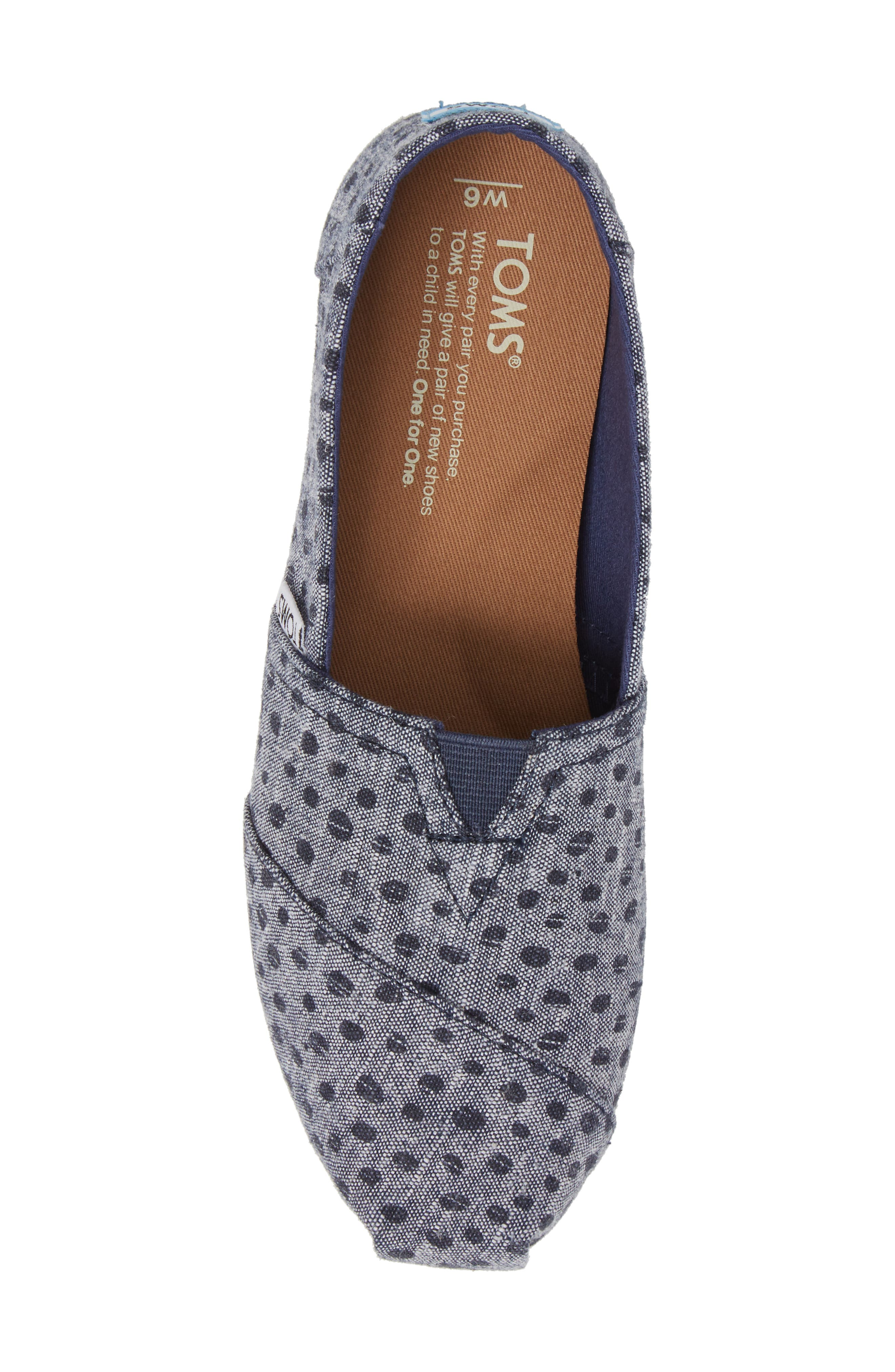 Alpargata Chambray Slip-On,                             Alternate thumbnail 5, color,                             410