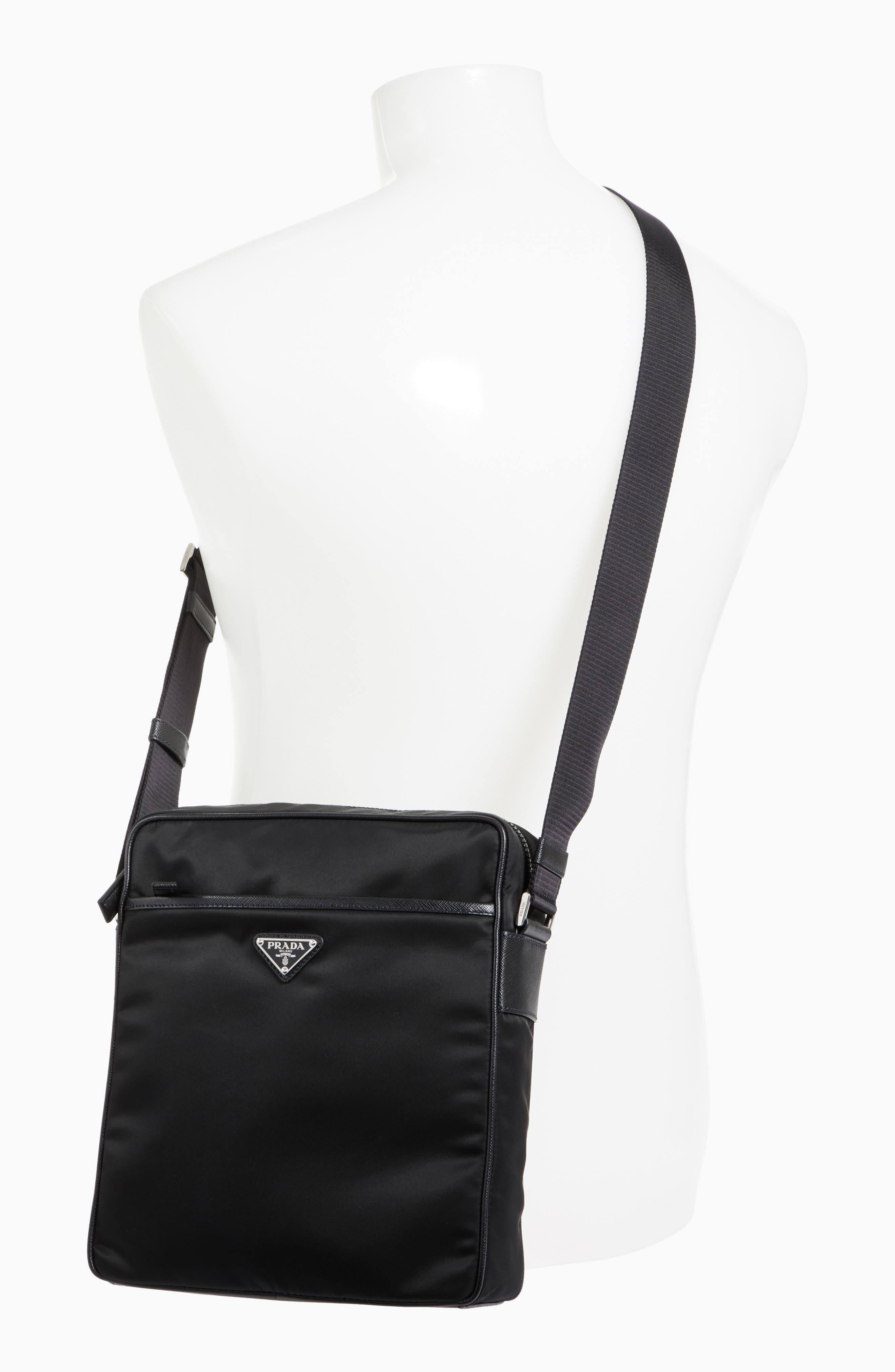 Saffiano Leather Crossbody Bag,                             Alternate thumbnail 2, color,                             001