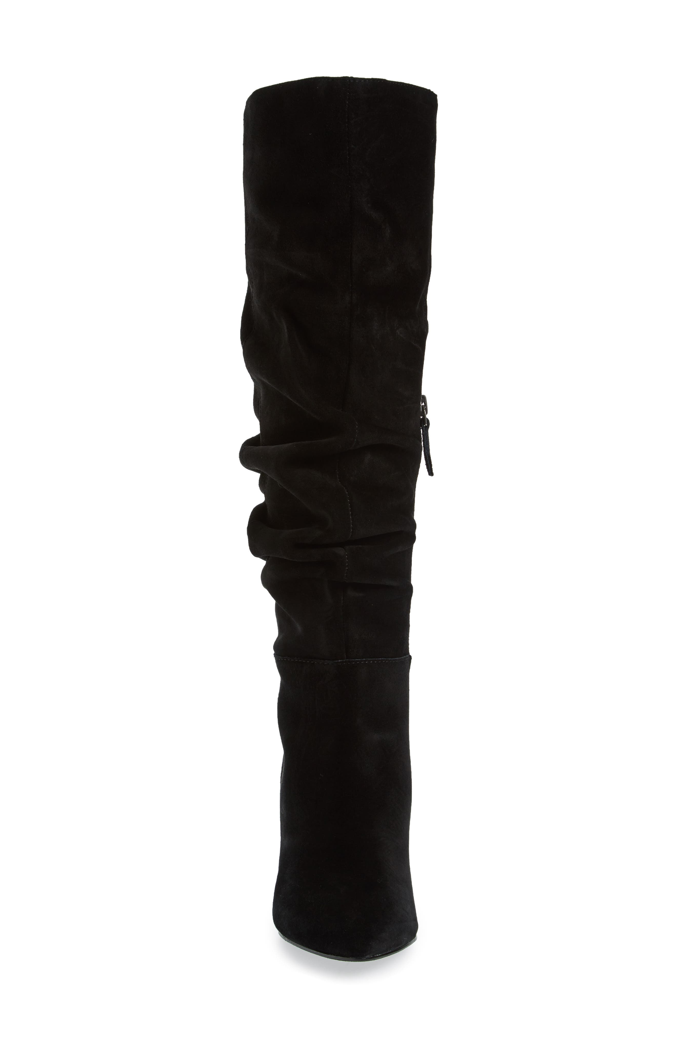 x Something Navy Aiden Knee High Boot,                             Alternate thumbnail 4, color,                             001