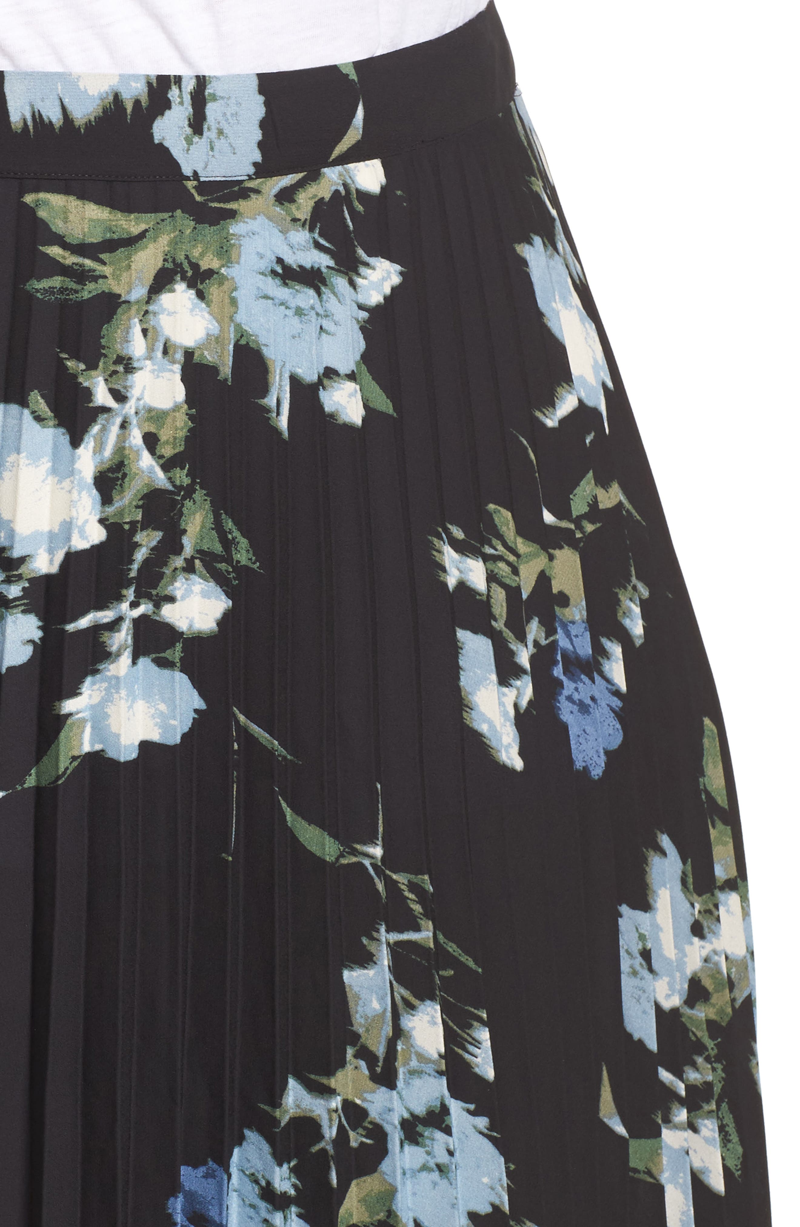 Windswept Bouquet Pleated Skirt,                             Alternate thumbnail 4, color,                             401
