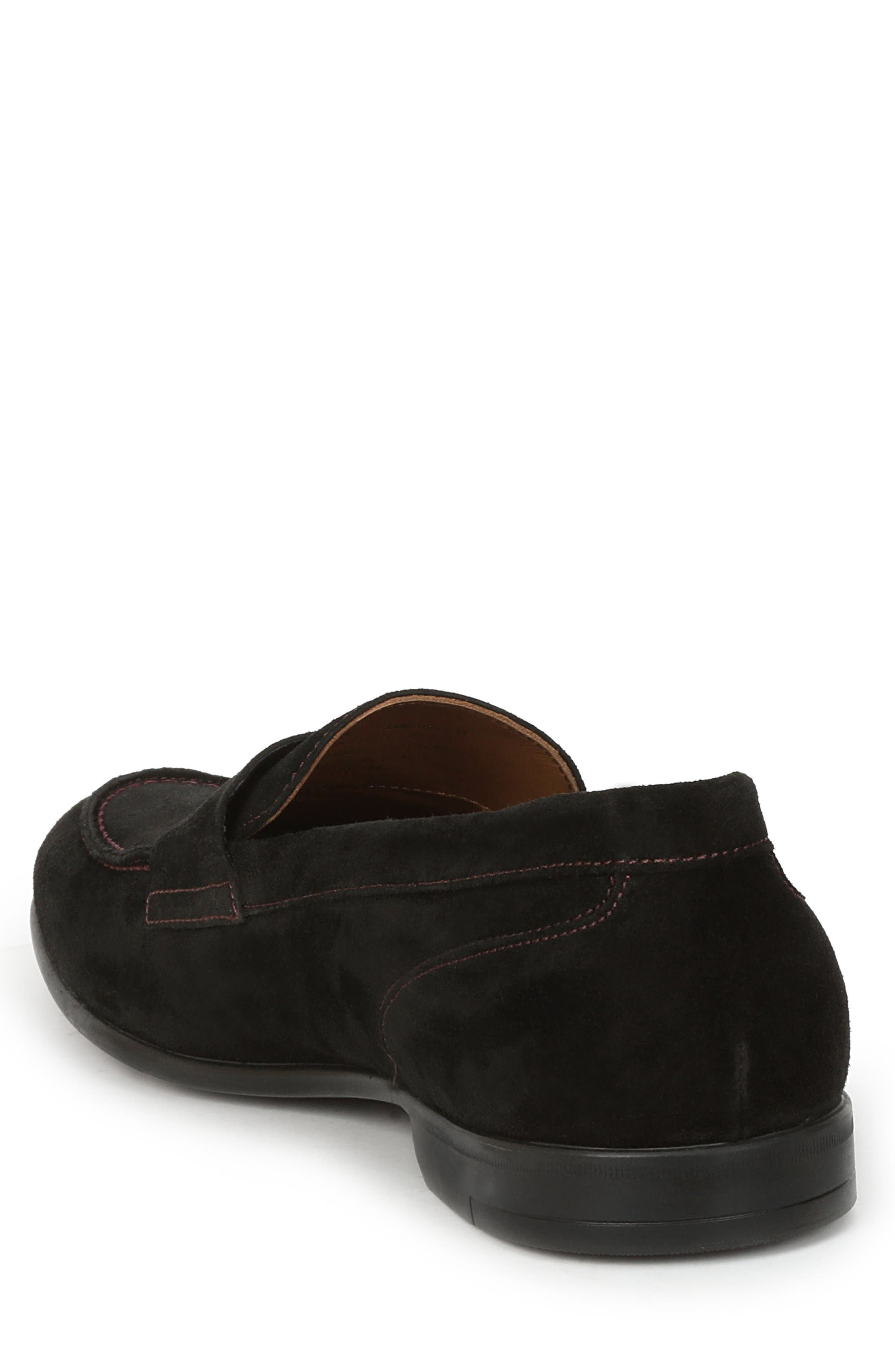 Silas Penny Loafer,                             Alternate thumbnail 2, color,                             BLACK