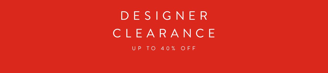 Designer Clearance Sale. Up to 40% off men's designer collections.