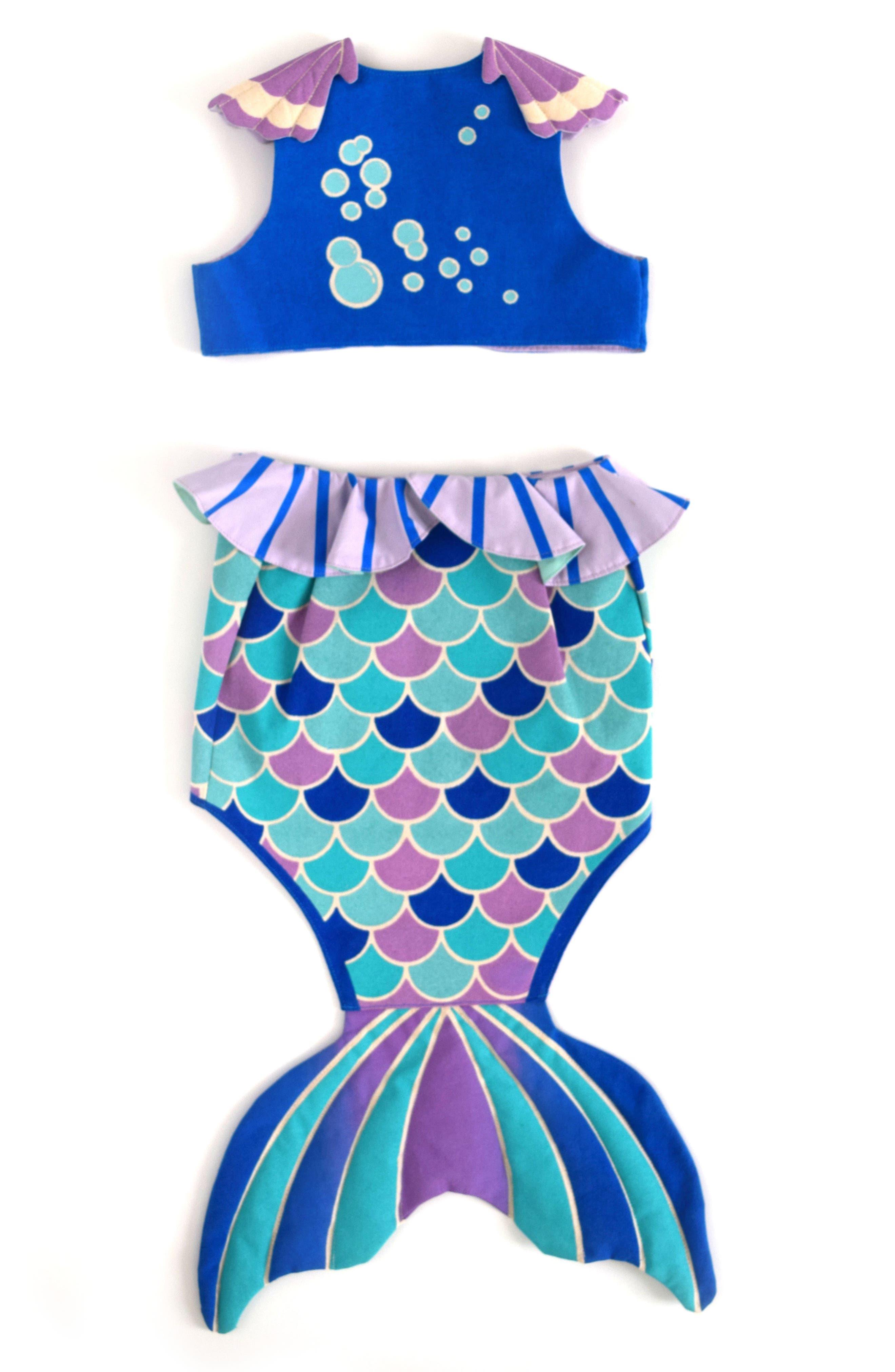 LOVELANE,                             Mermaid Costume Set,                             Alternate thumbnail 2, color,                             400