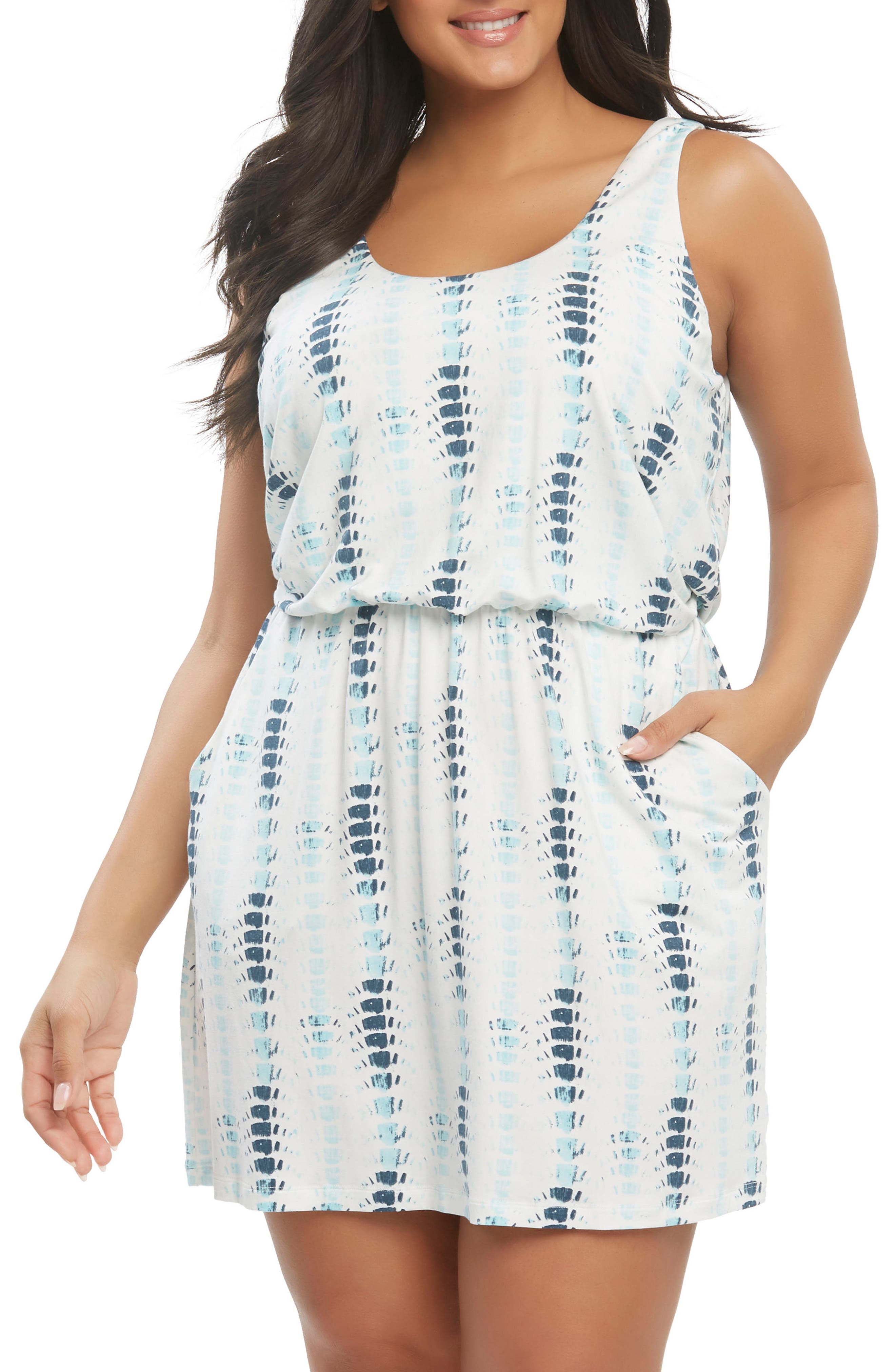 Plus Size Tart Felicity Minidress, Blue