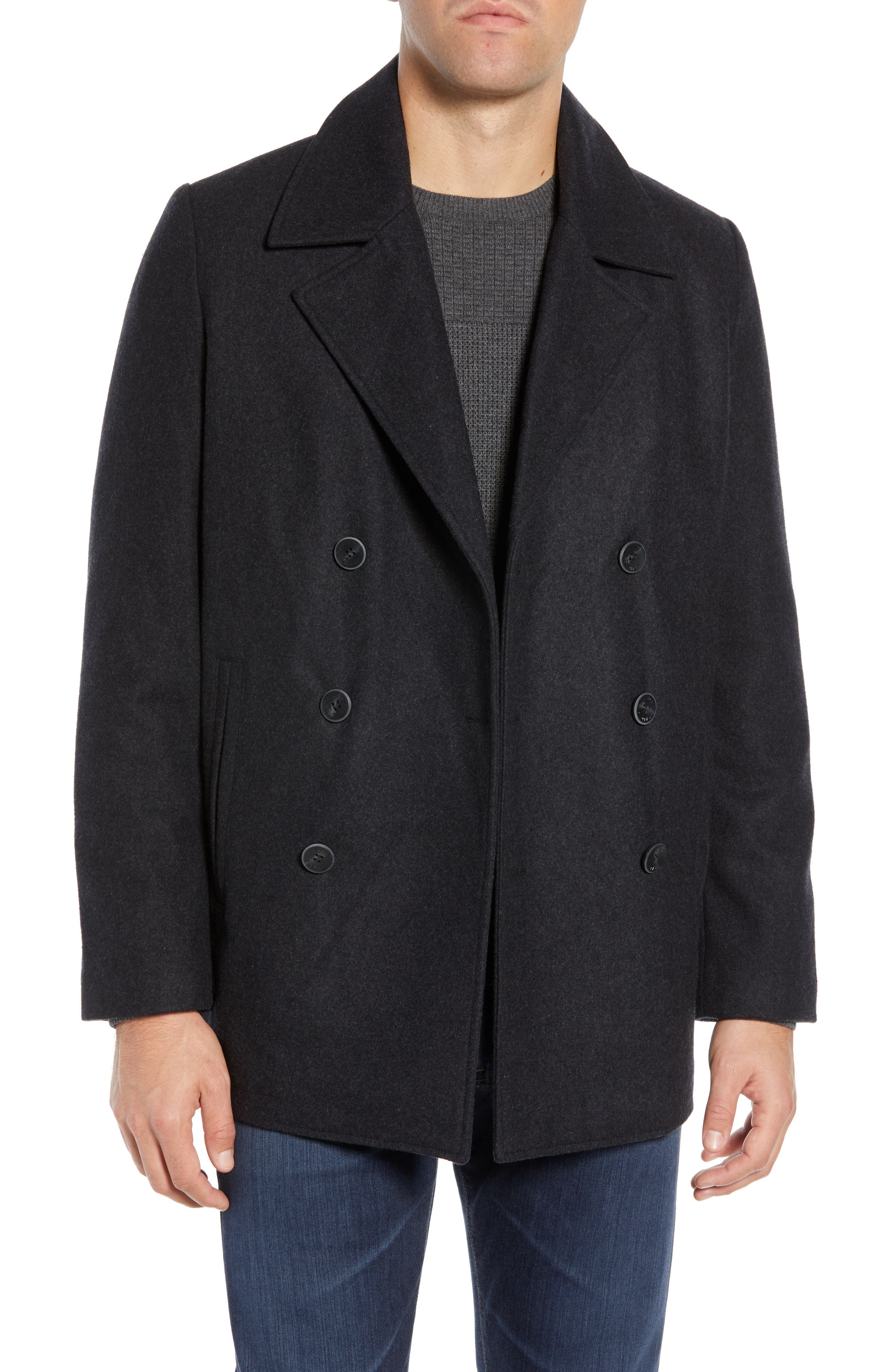 Classic Peacoat,                             Alternate thumbnail 2, color,                             CHARCOAL
