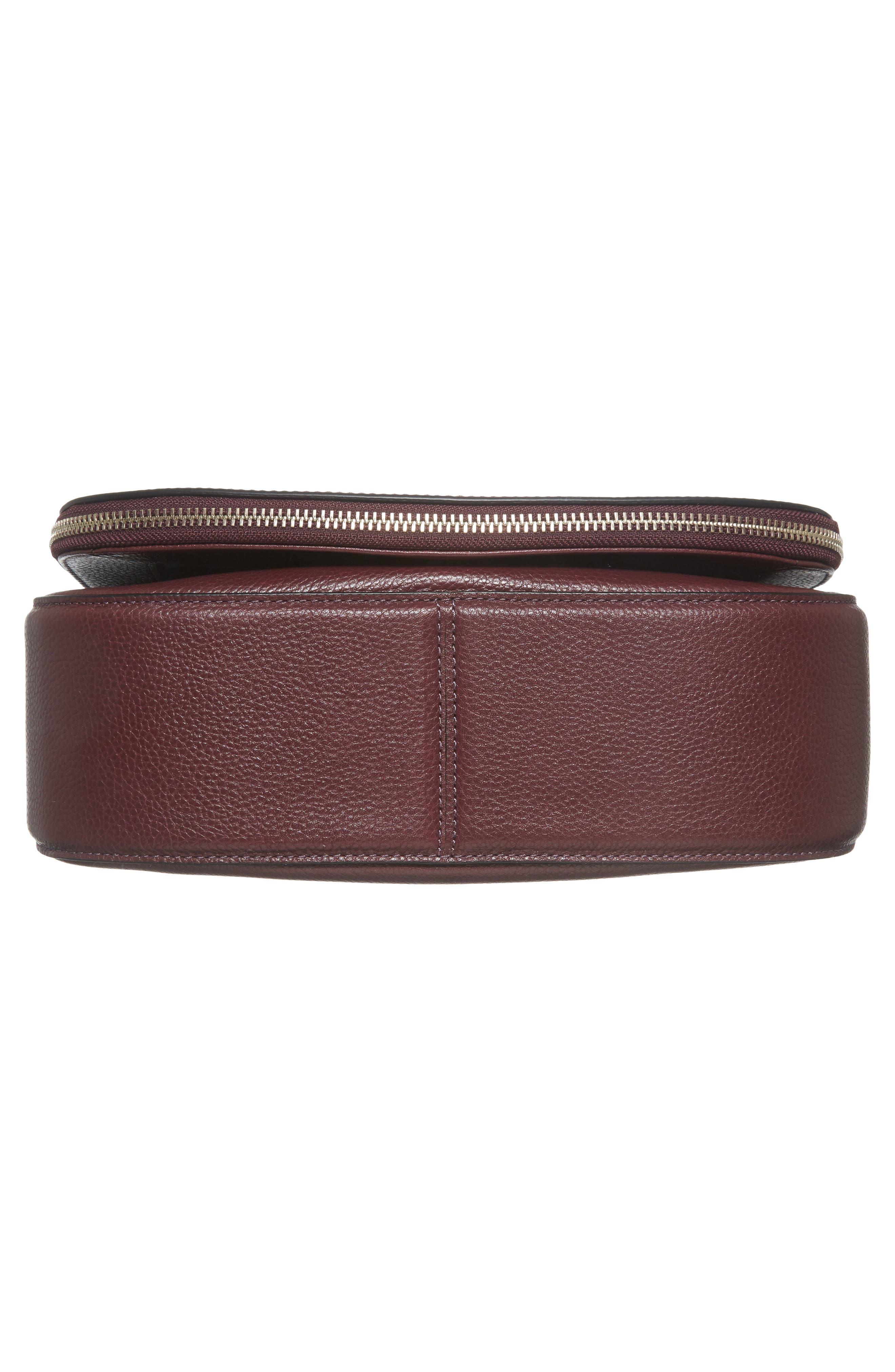 Recruit Nomad Pebbled Leather Crossbody Bag,                             Alternate thumbnail 6, color,                             538