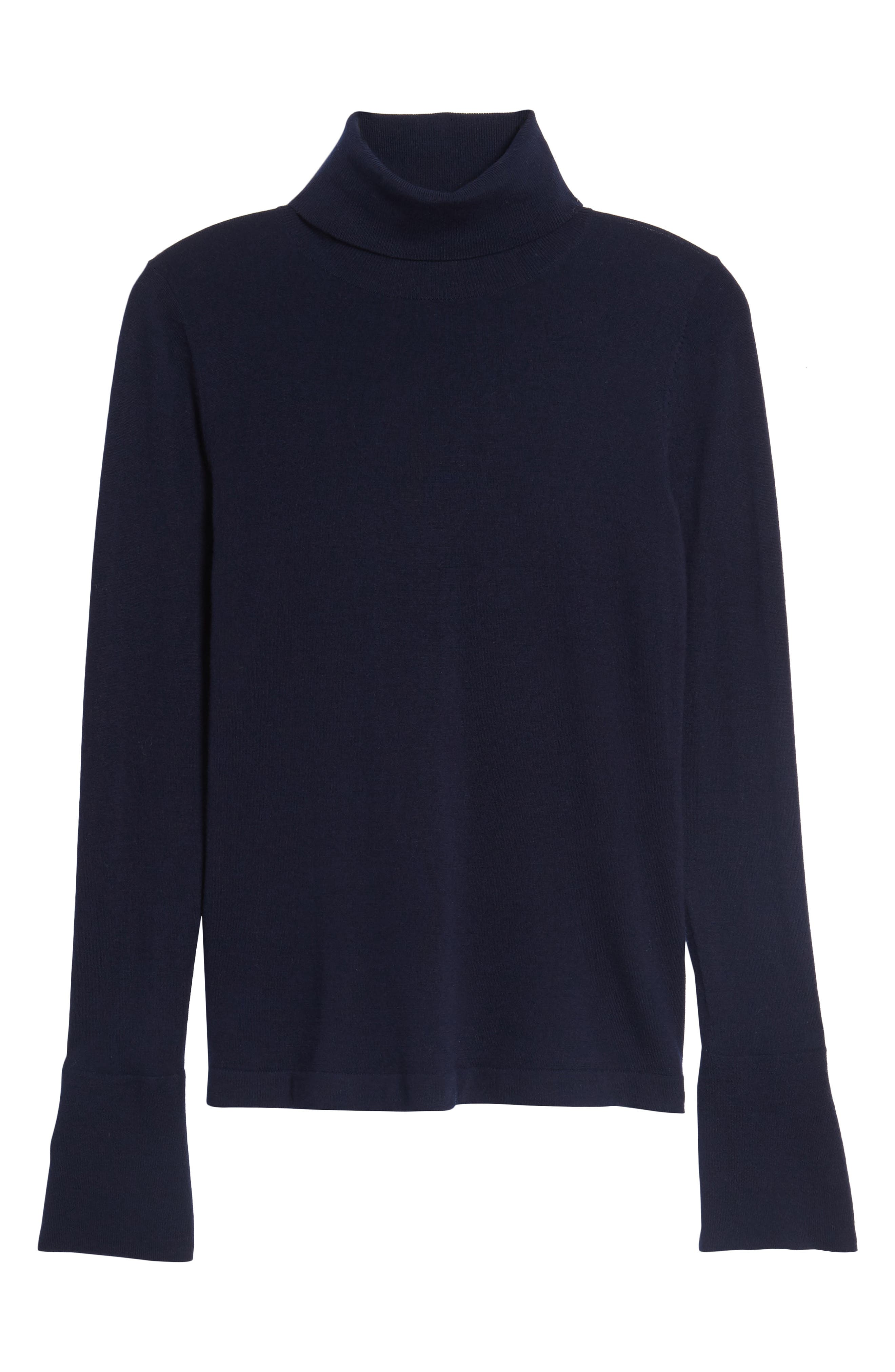 Split Cuff Merino Wool Turtleneck Sweater,                             Alternate thumbnail 17, color,