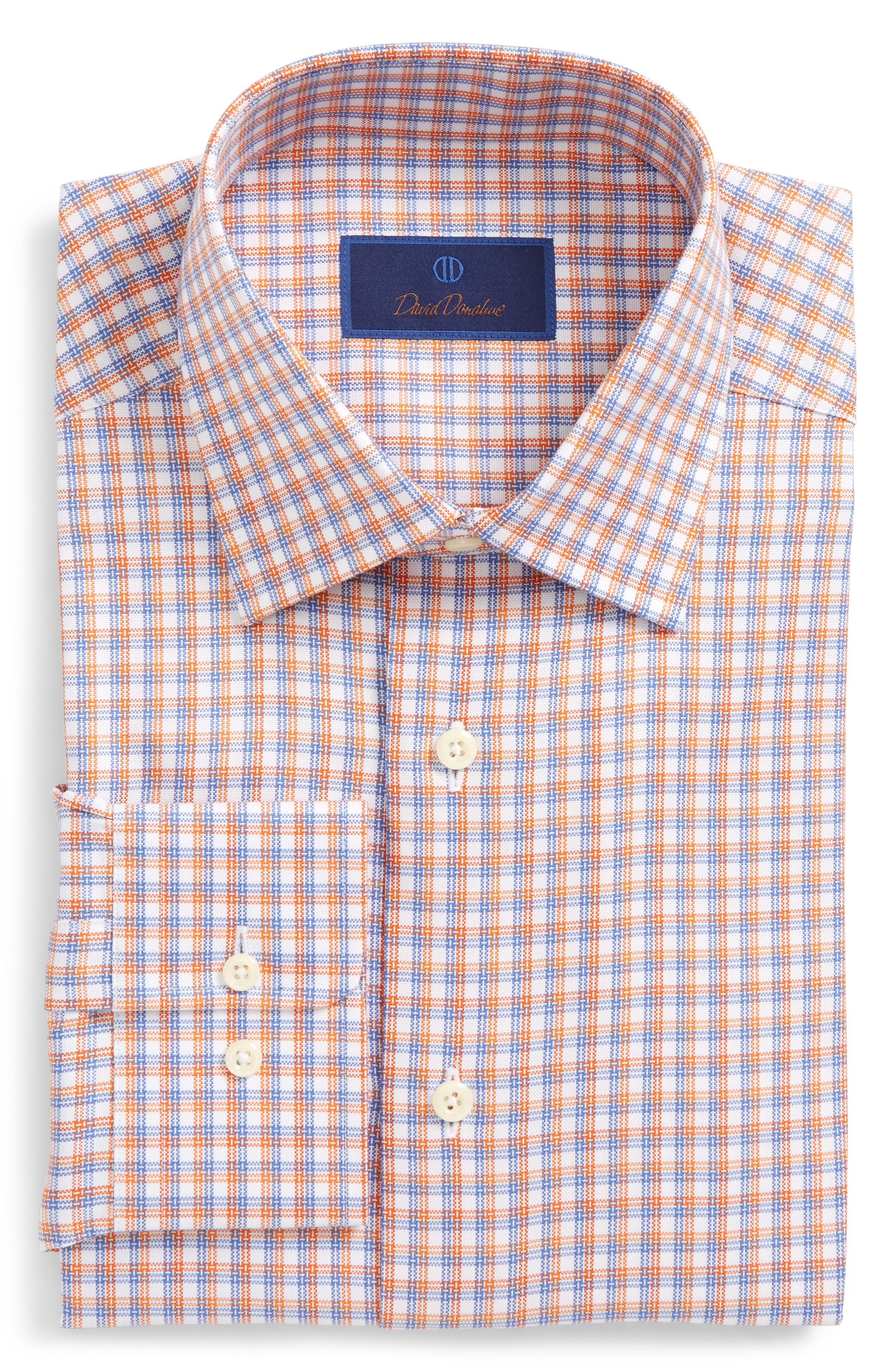 Regular Fit Plaid Dress Shirt,                             Main thumbnail 1, color,                             830