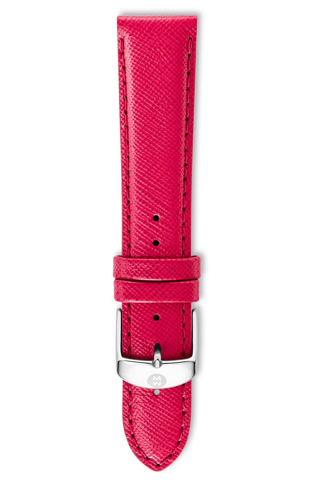 18mm Saffiano Leather Watch Strap,                             Main thumbnail 5, color,
