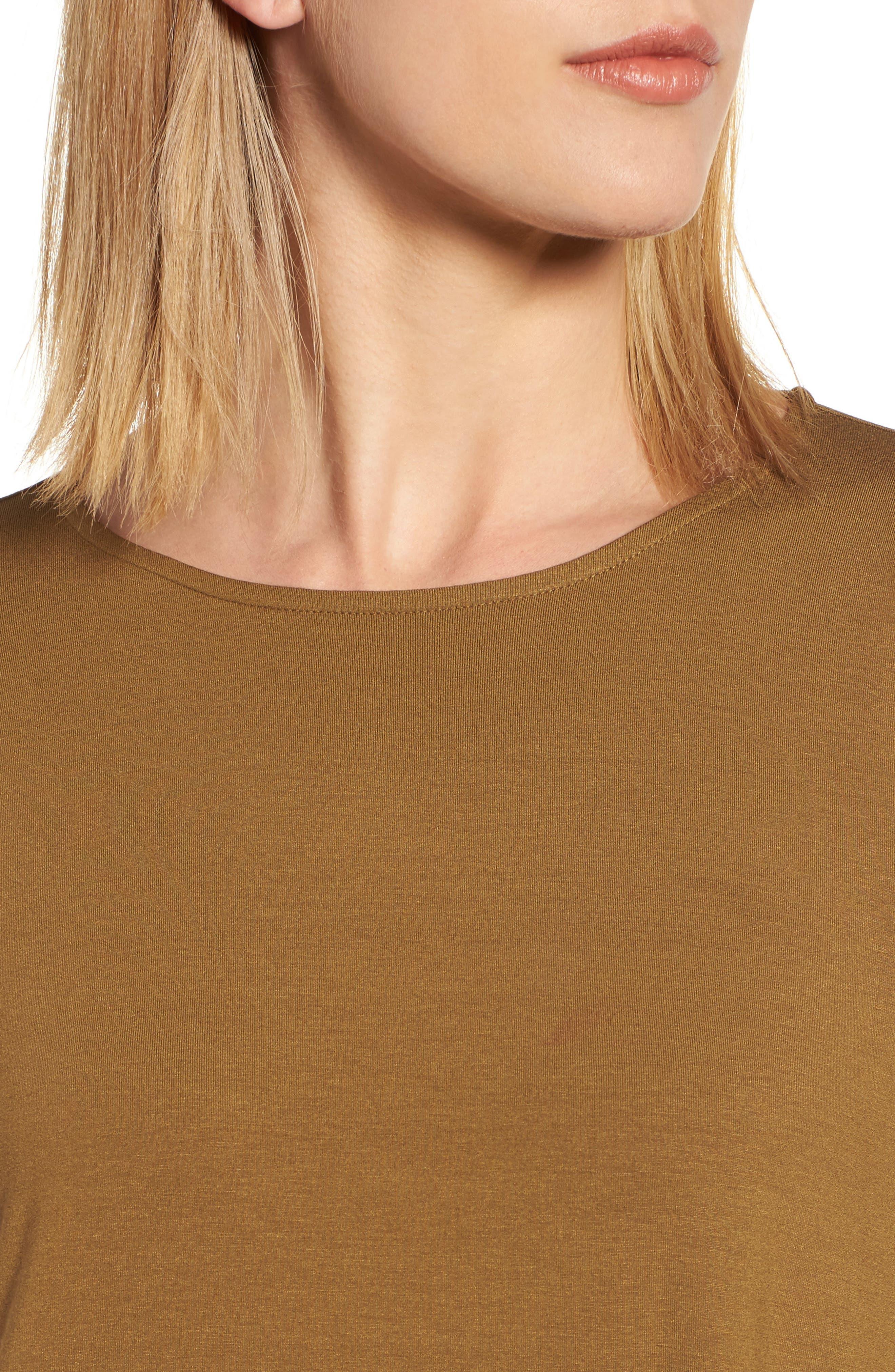Long Sleeve Jersey Shift Dress,                             Alternate thumbnail 8, color,
