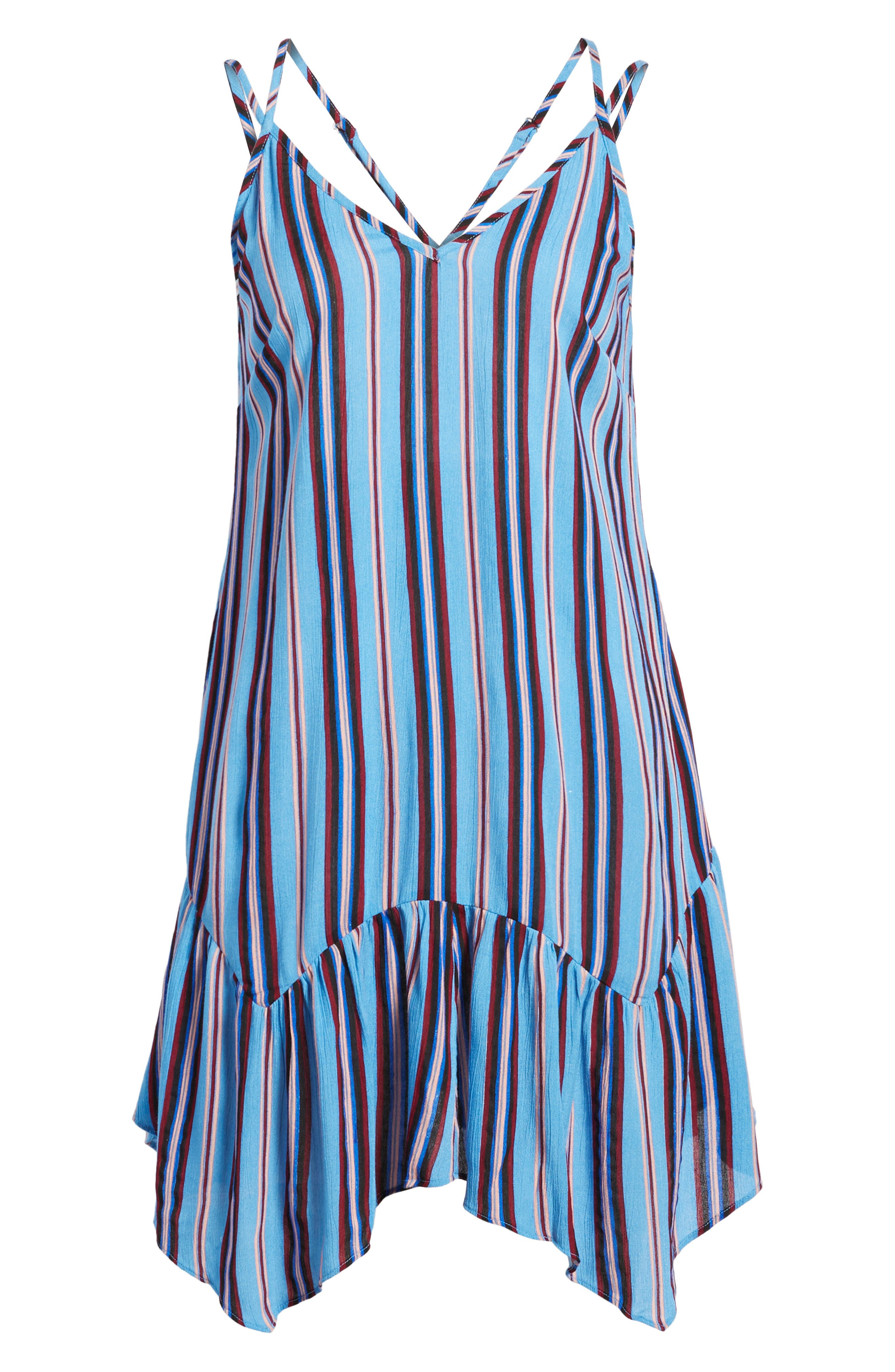 Selena Handkerchief Hem Slip Dress,                             Alternate thumbnail 7, color,                             500