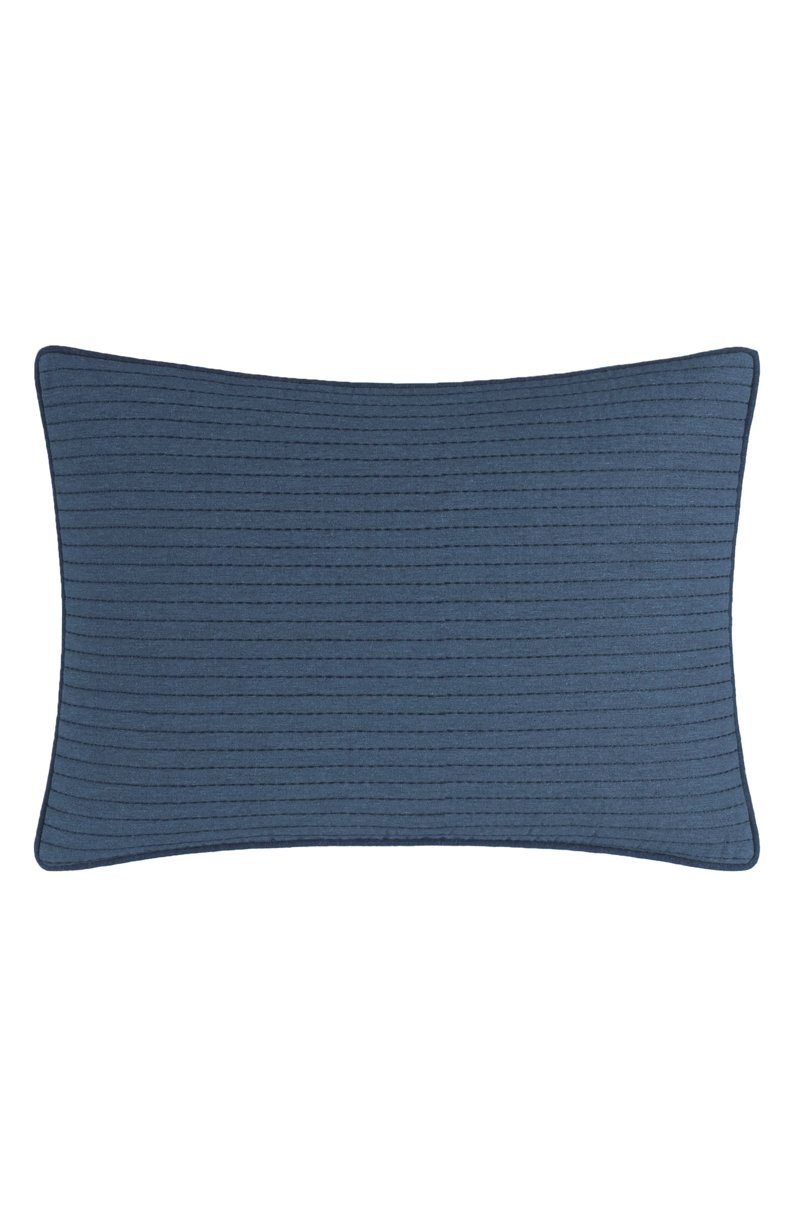 Lockridge Quilted Accent Pillow,                             Main thumbnail 1, color,                             DARK NAVY