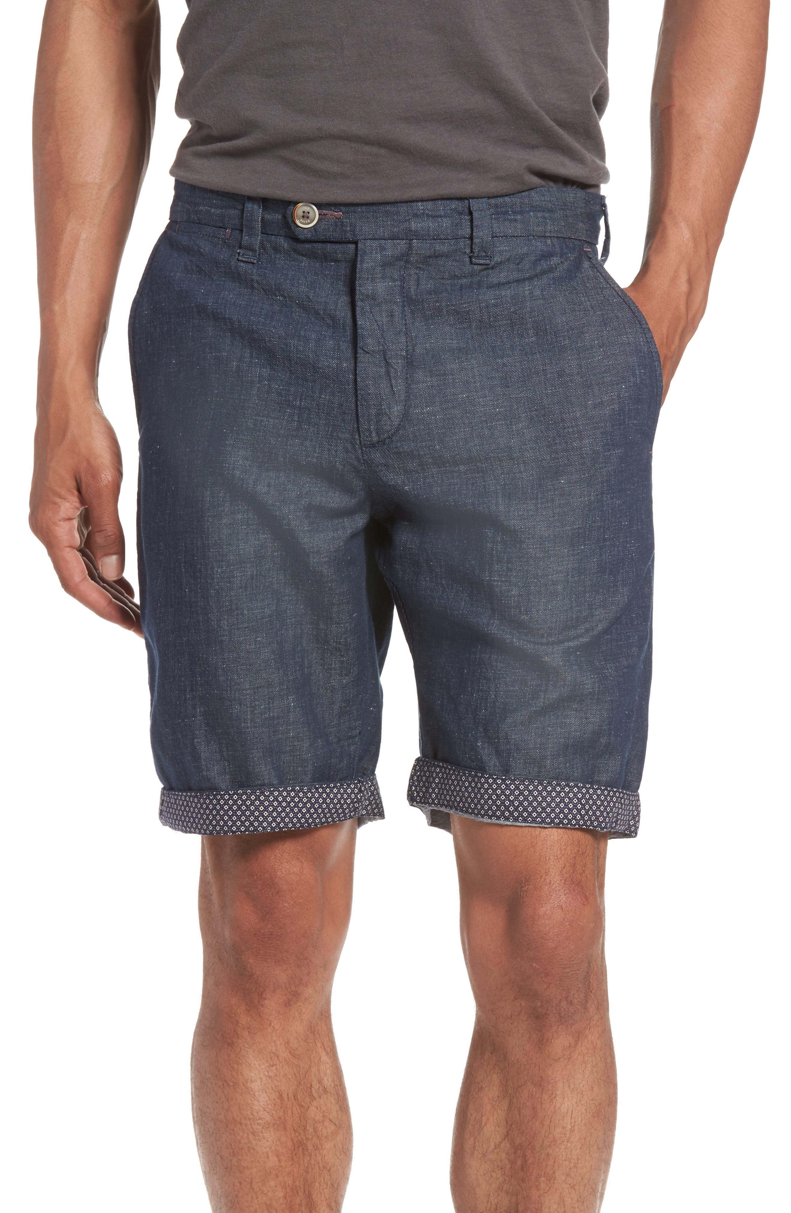 Frisho Cuff Denim Shorts,                             Main thumbnail 2, color,
