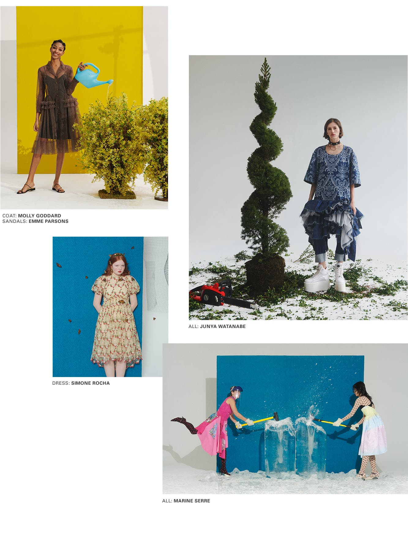 The nature of spring: women's designer collections.