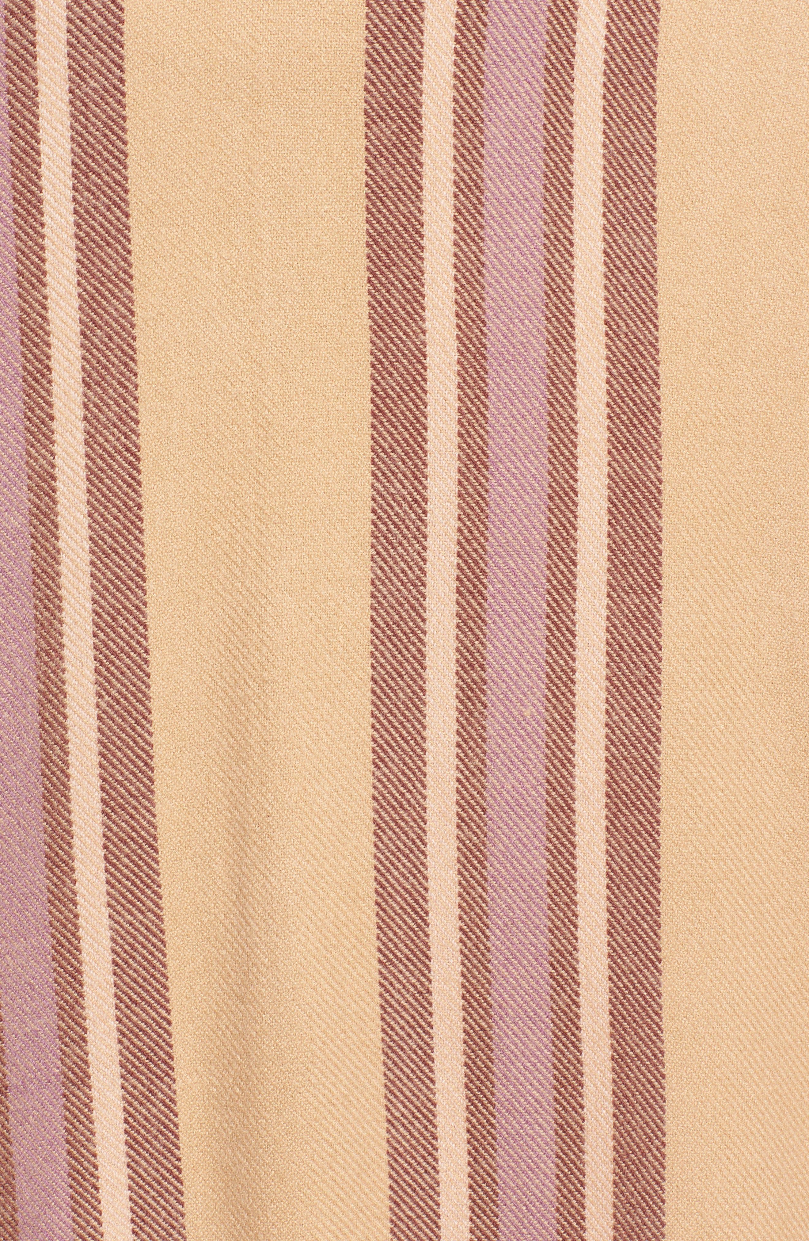 Placed Stripe Poncho Scarf,                             Alternate thumbnail 5, color,                             DESERT CAMEL MULTI