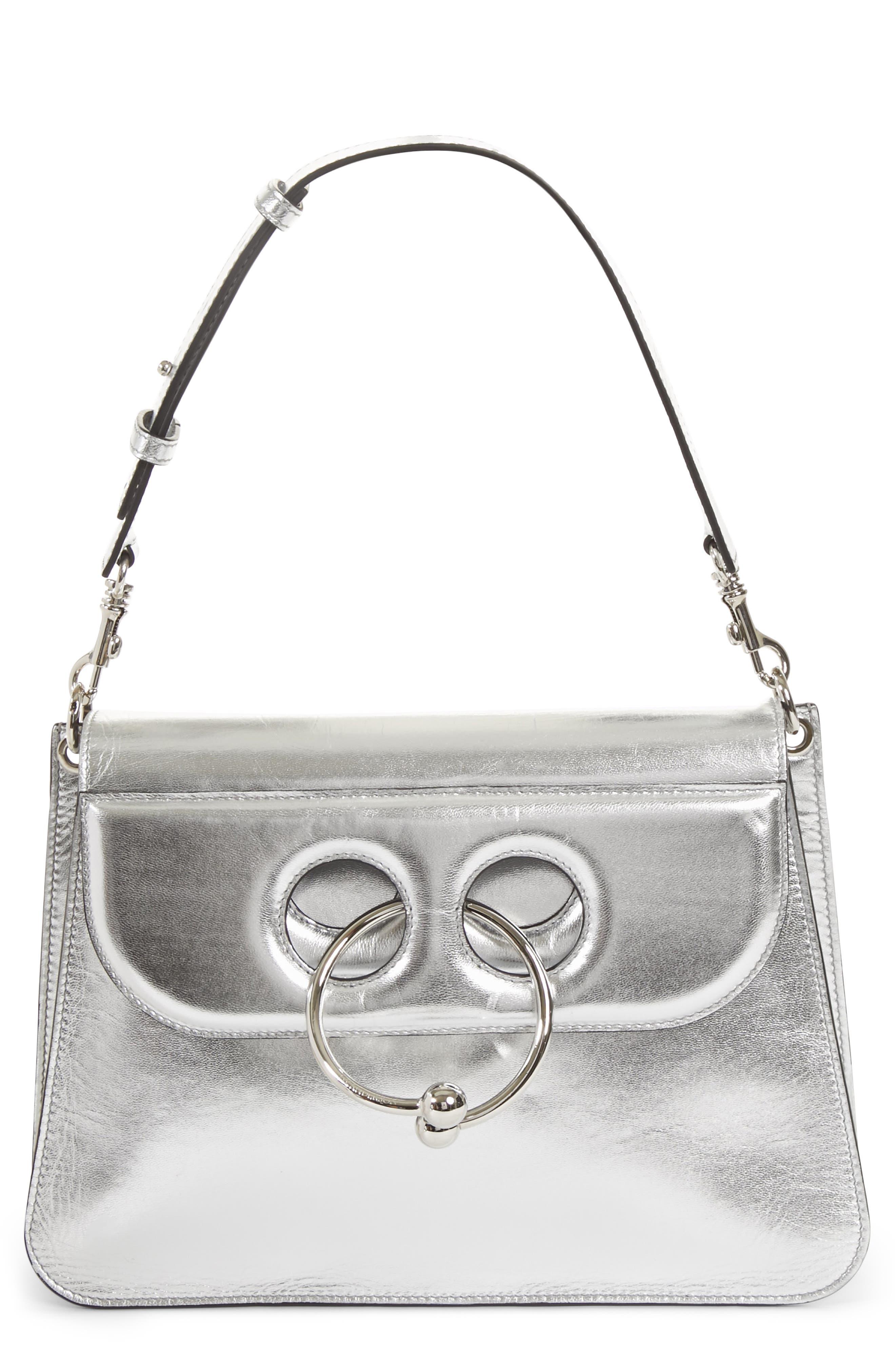 J.W.ANDERSON Medium Pierce Metallic Shoulder Bag,                         Main,                         color, 040