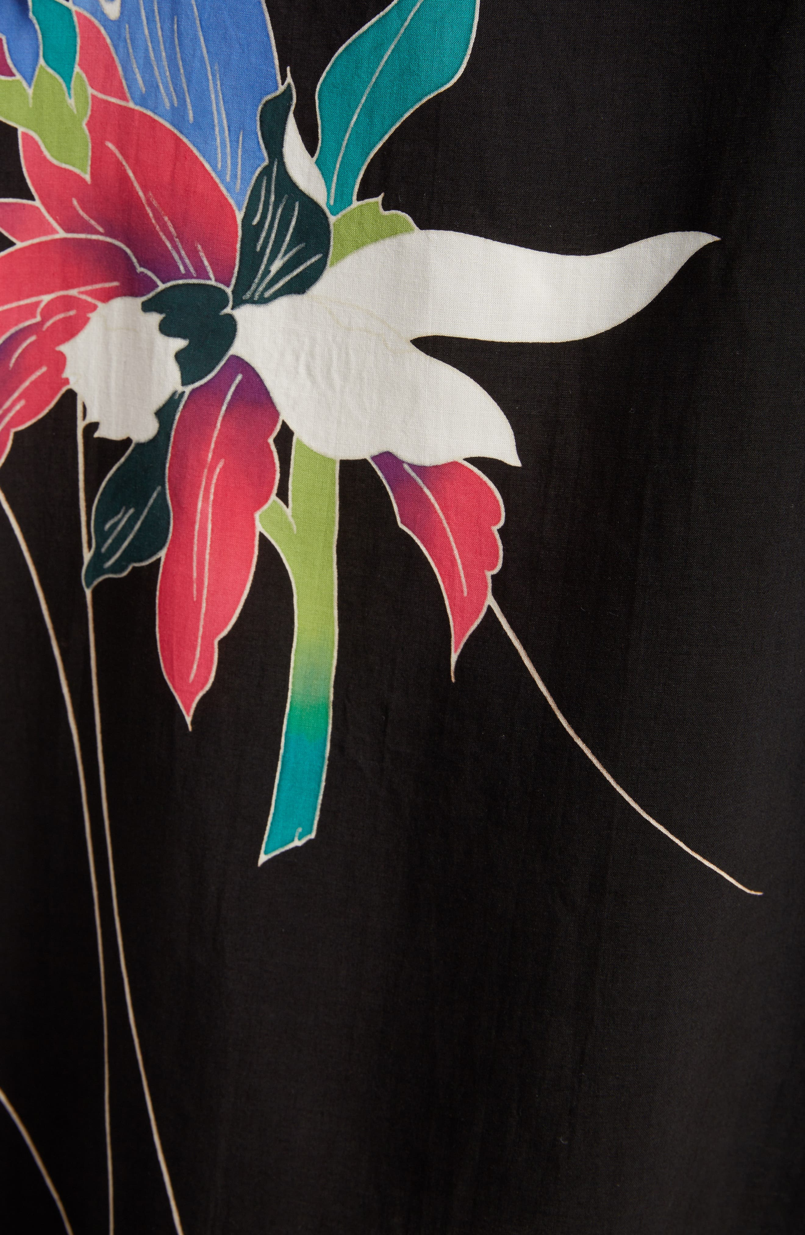 Print Sleeveless Tunic,                             Alternate thumbnail 5, color,                             PINK-BLACK BASE