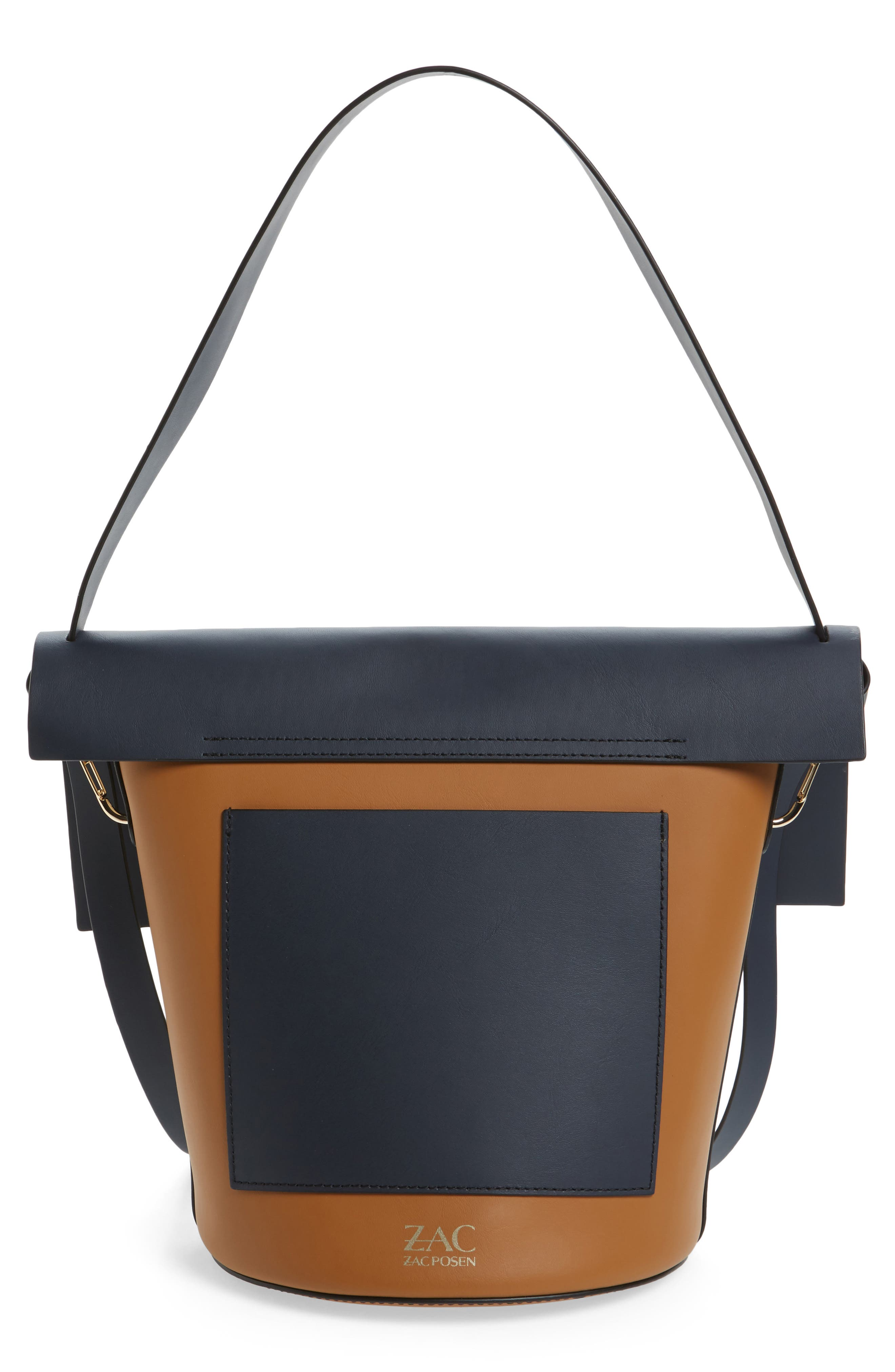Belay Colorblock Leather Bucket Bag,                             Alternate thumbnail 3, color,                             410