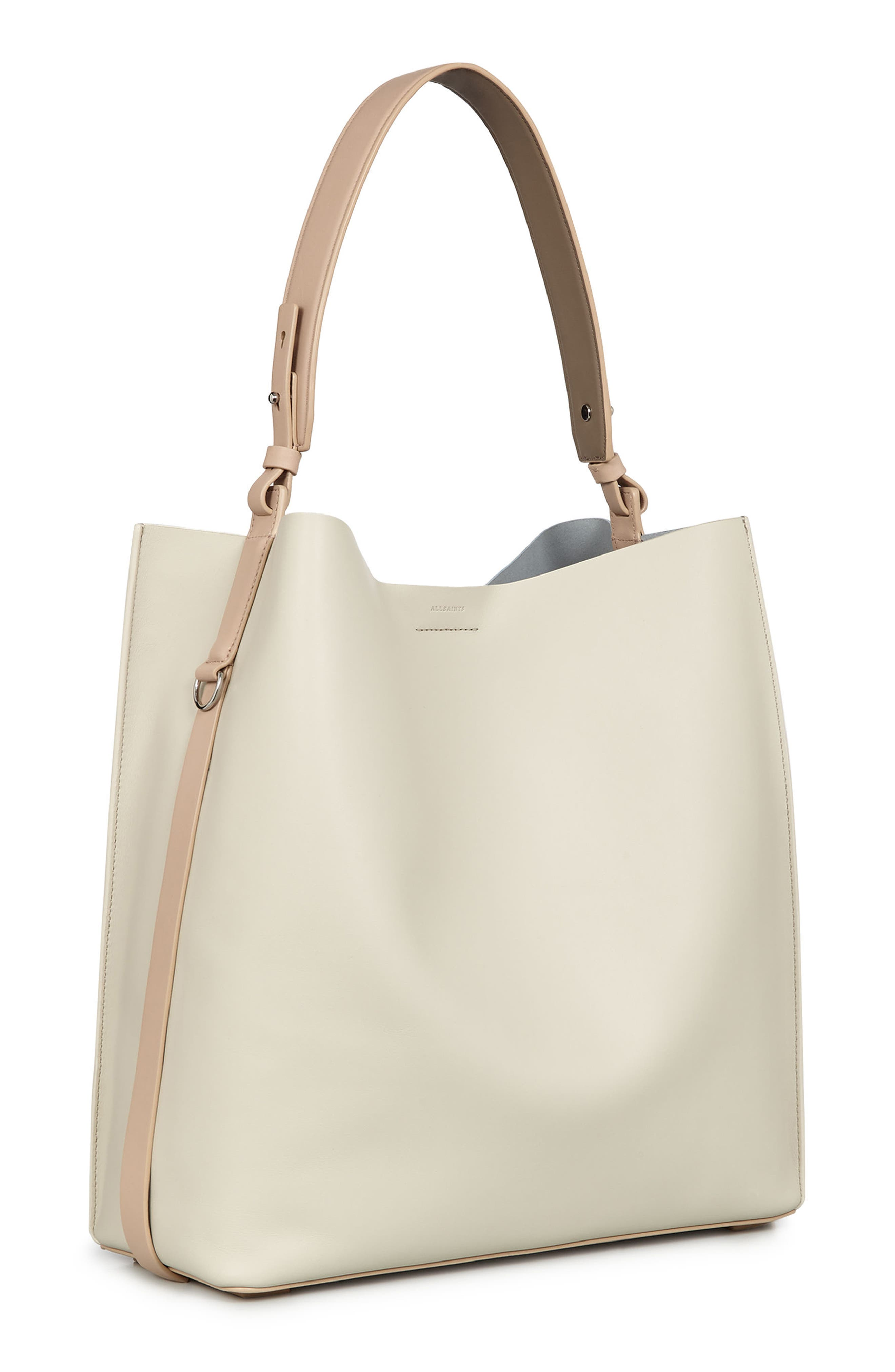Paradise North/South Calfskin Leather Tote,                             Alternate thumbnail 2, color,                             LAMB WHITE