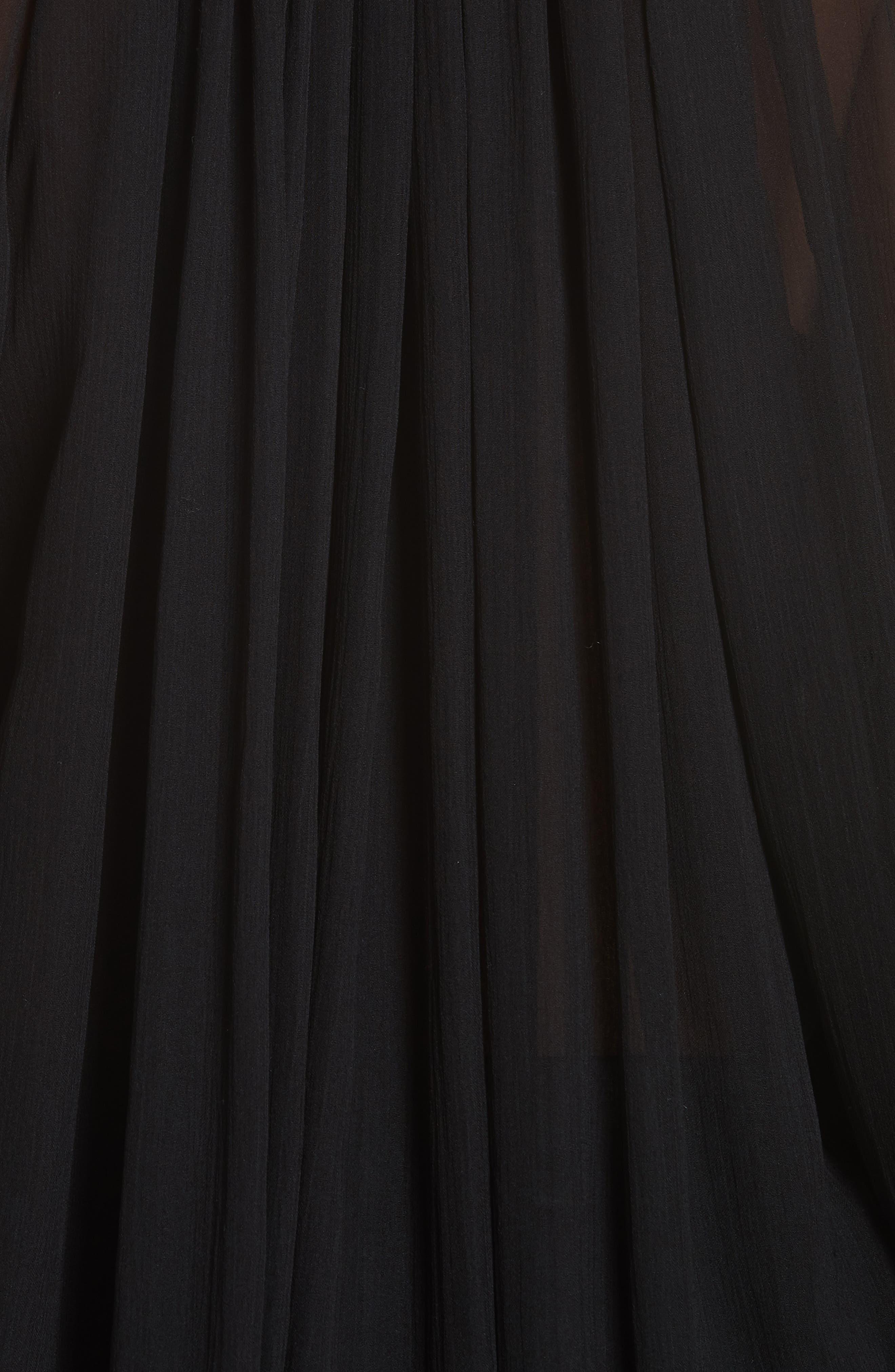 Arizona Silk Top,                             Alternate thumbnail 5, color,                             BLACK