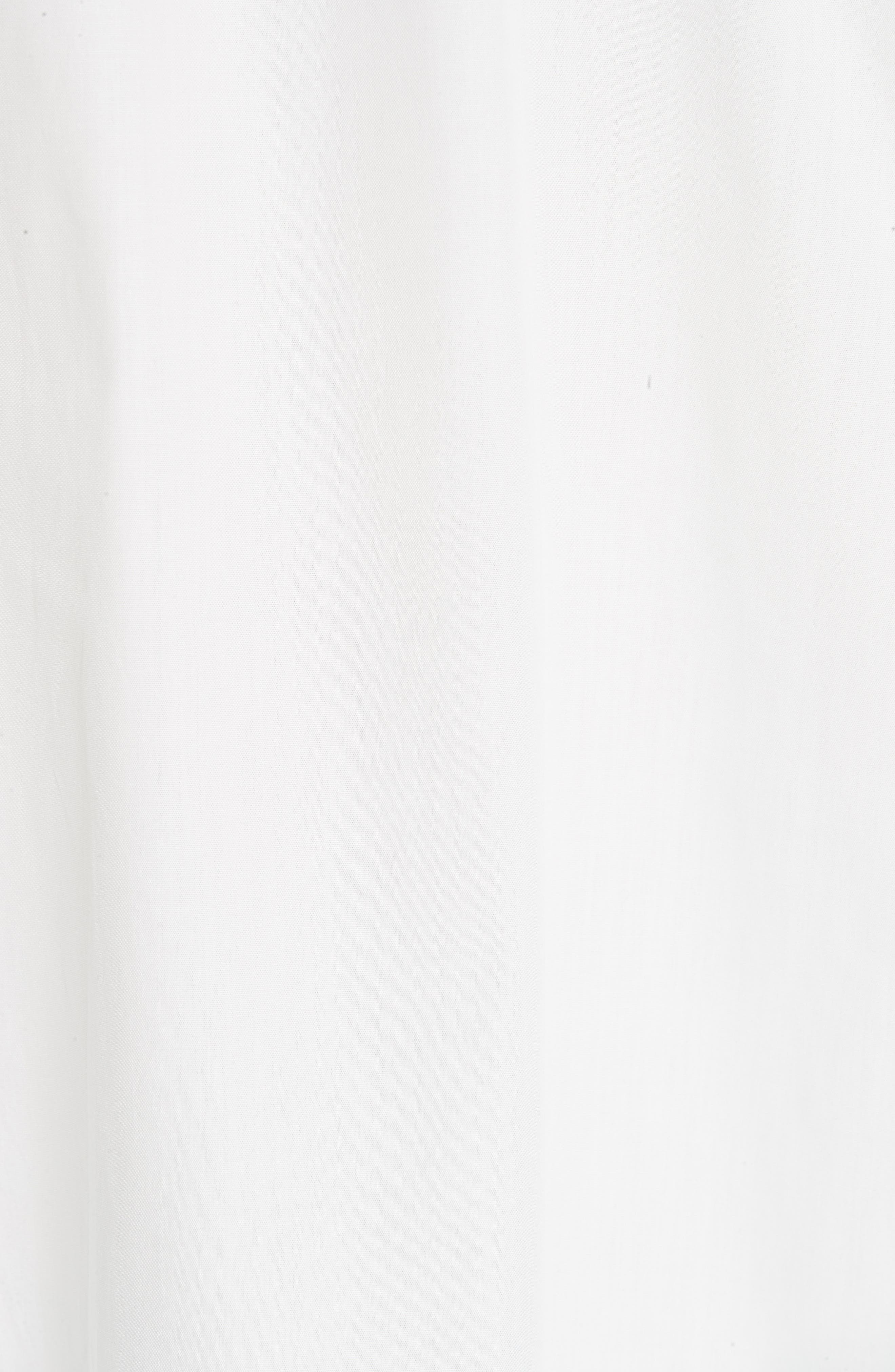 Flare Cuff Poplin Blouse,                             Alternate thumbnail 5, color,                             WHITE