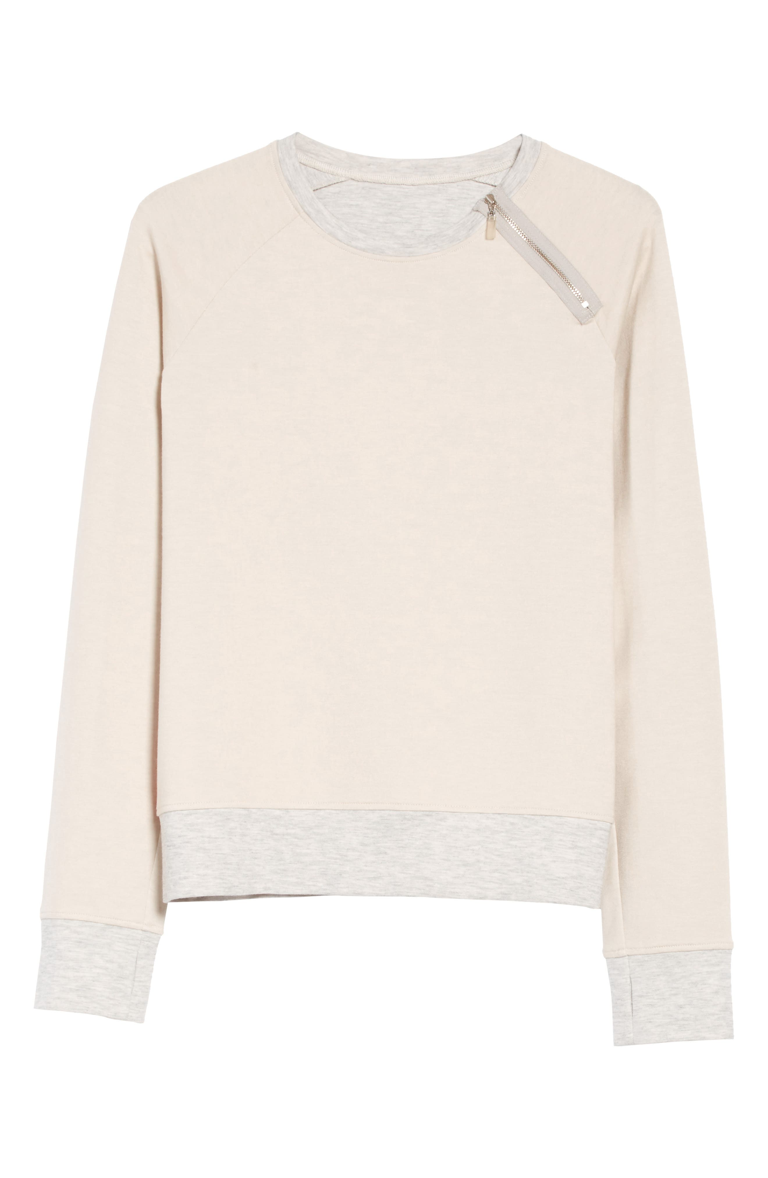 Zip Combo Sweatshirt,                             Alternate thumbnail 6, color,