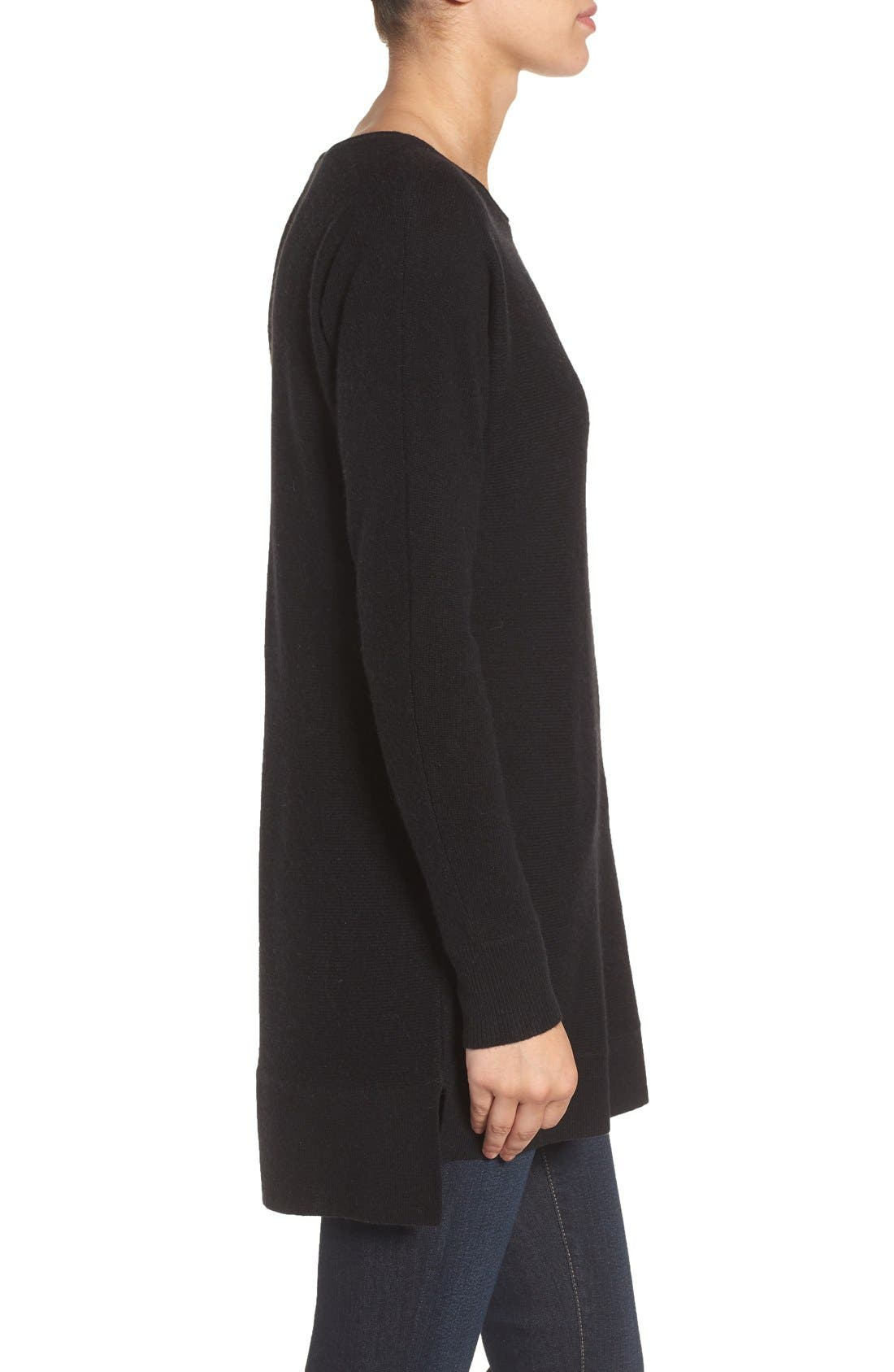 High/Low Wool & Cashmere Tunic Sweater,                             Alternate thumbnail 106, color,