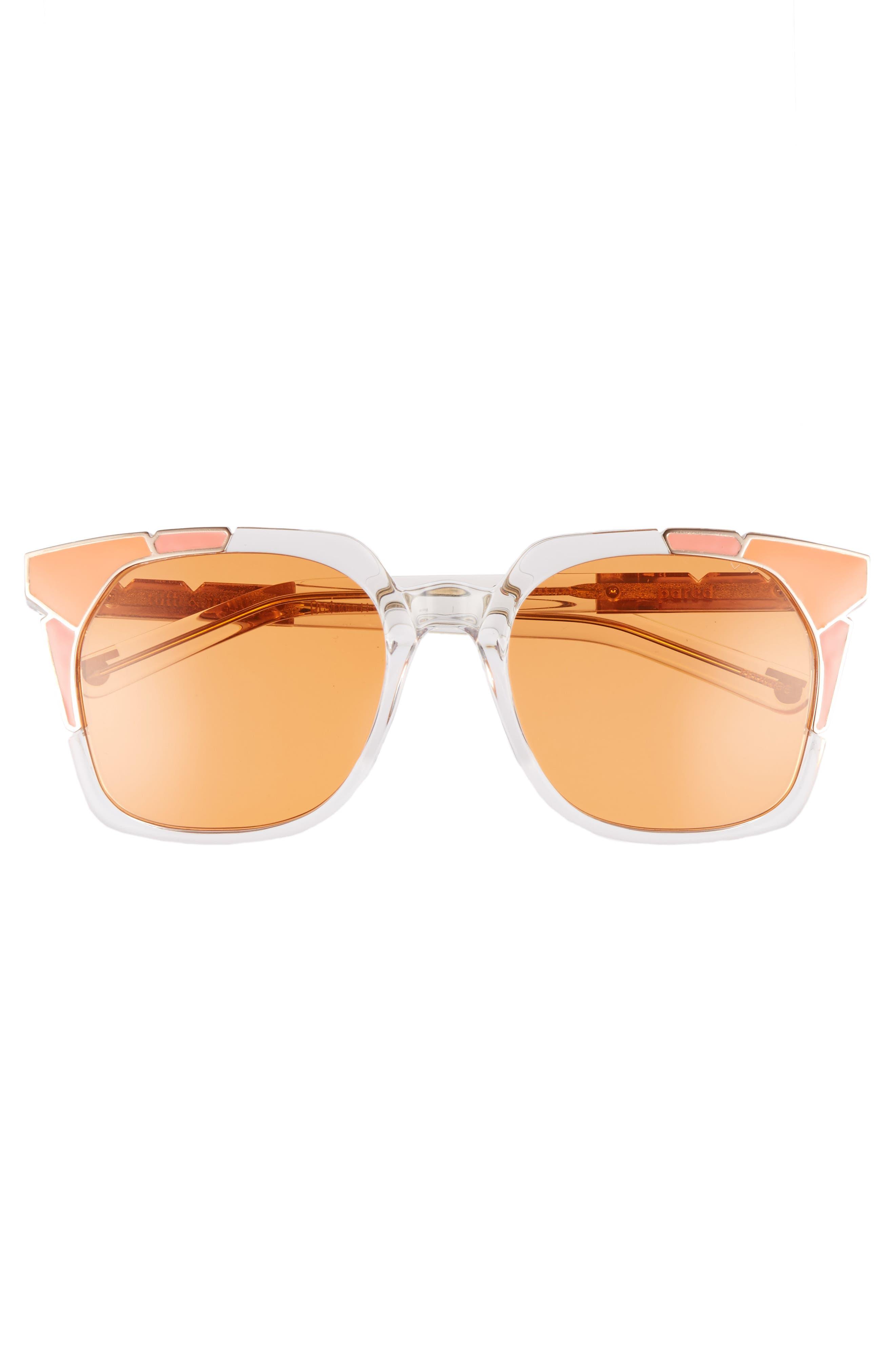 Tutti & Frutti 55mm Sunglasses,                             Alternate thumbnail 3, color,                             SALMON ORANGE/ ROSE GOLD