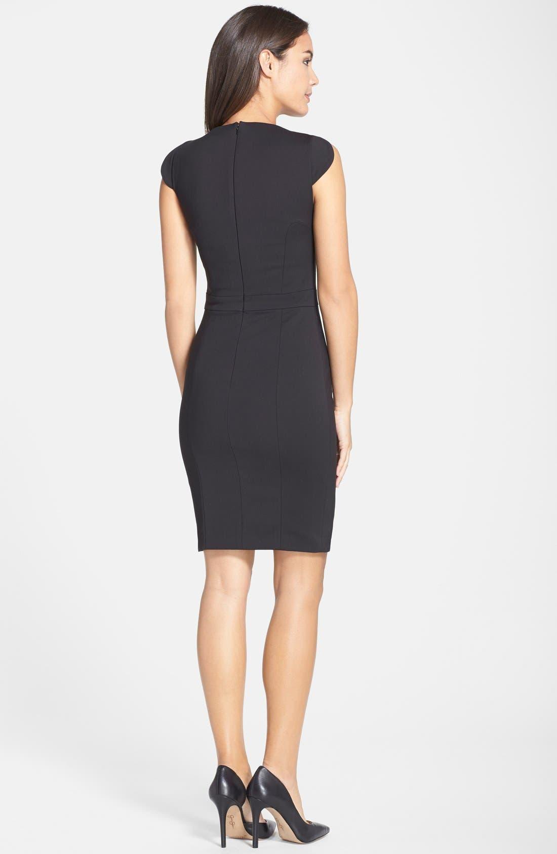 'Lolo' Stretch Sheath Dress,                             Alternate thumbnail 10, color,                             BLACK