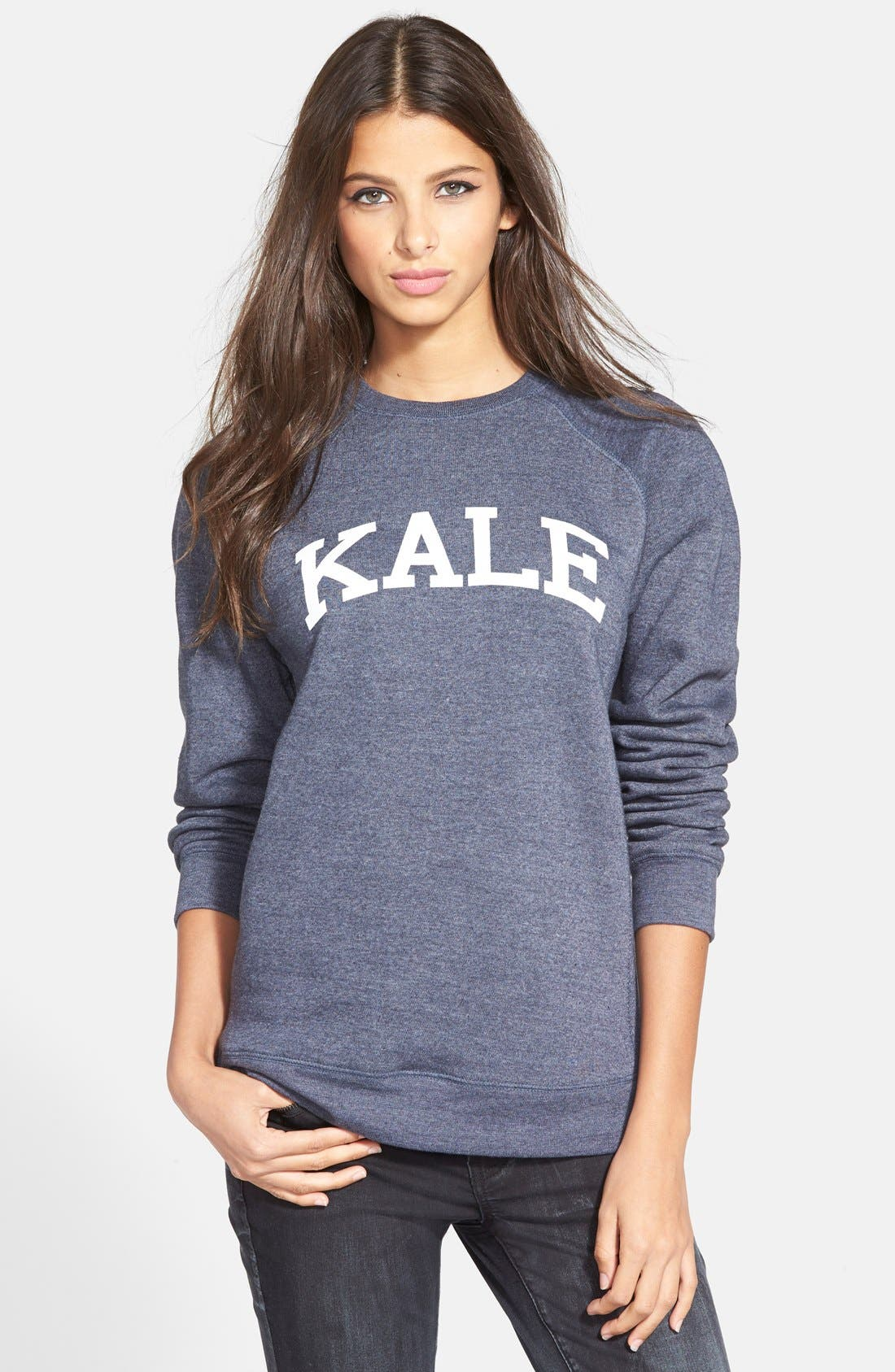 'Kale' Raglan Sweatshirt, Main, color, 410