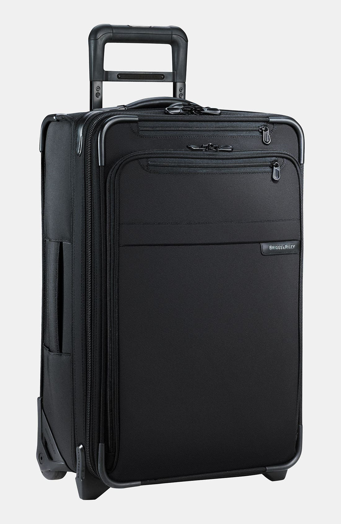 Baseline Domestic Expandable 22-Inch Rolling Carry-On,                             Main thumbnail 1, color,                             BLACK
