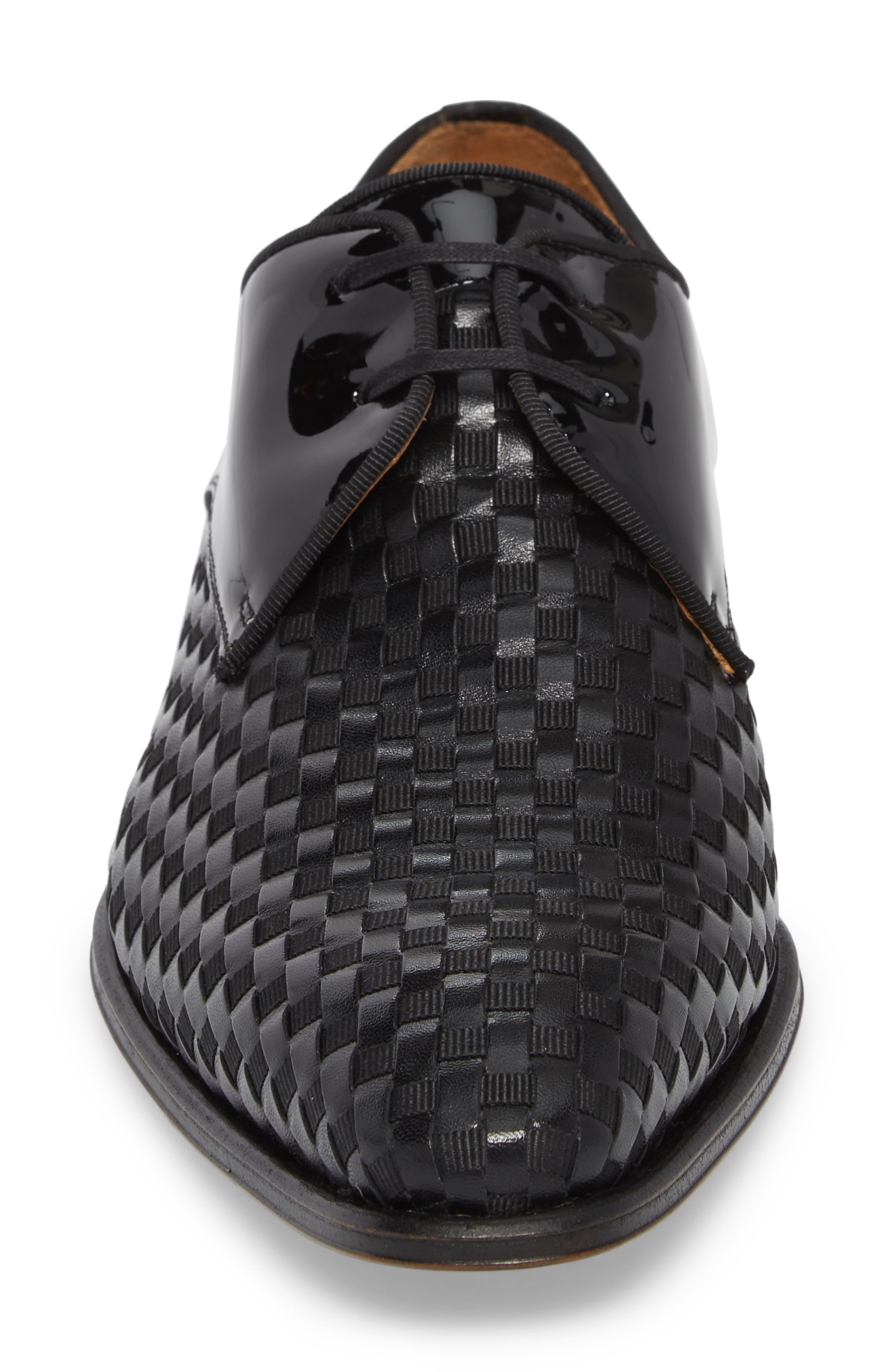 Sexto Plain Toe Derby,                             Alternate thumbnail 4, color,                             BLACK LEATHER