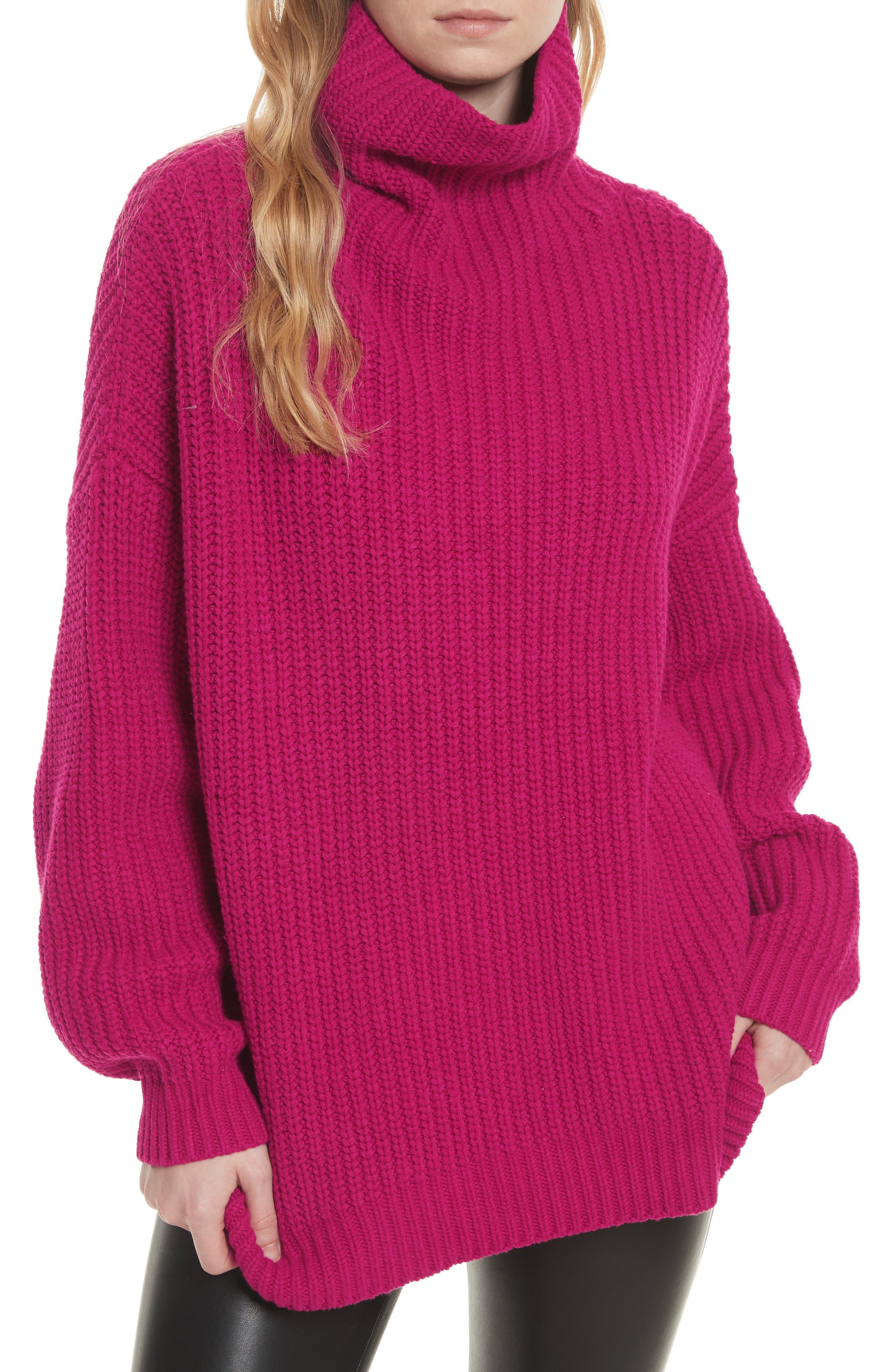 Swim Too Deep Turtleneck Sweater,                             Main thumbnail 4, color,