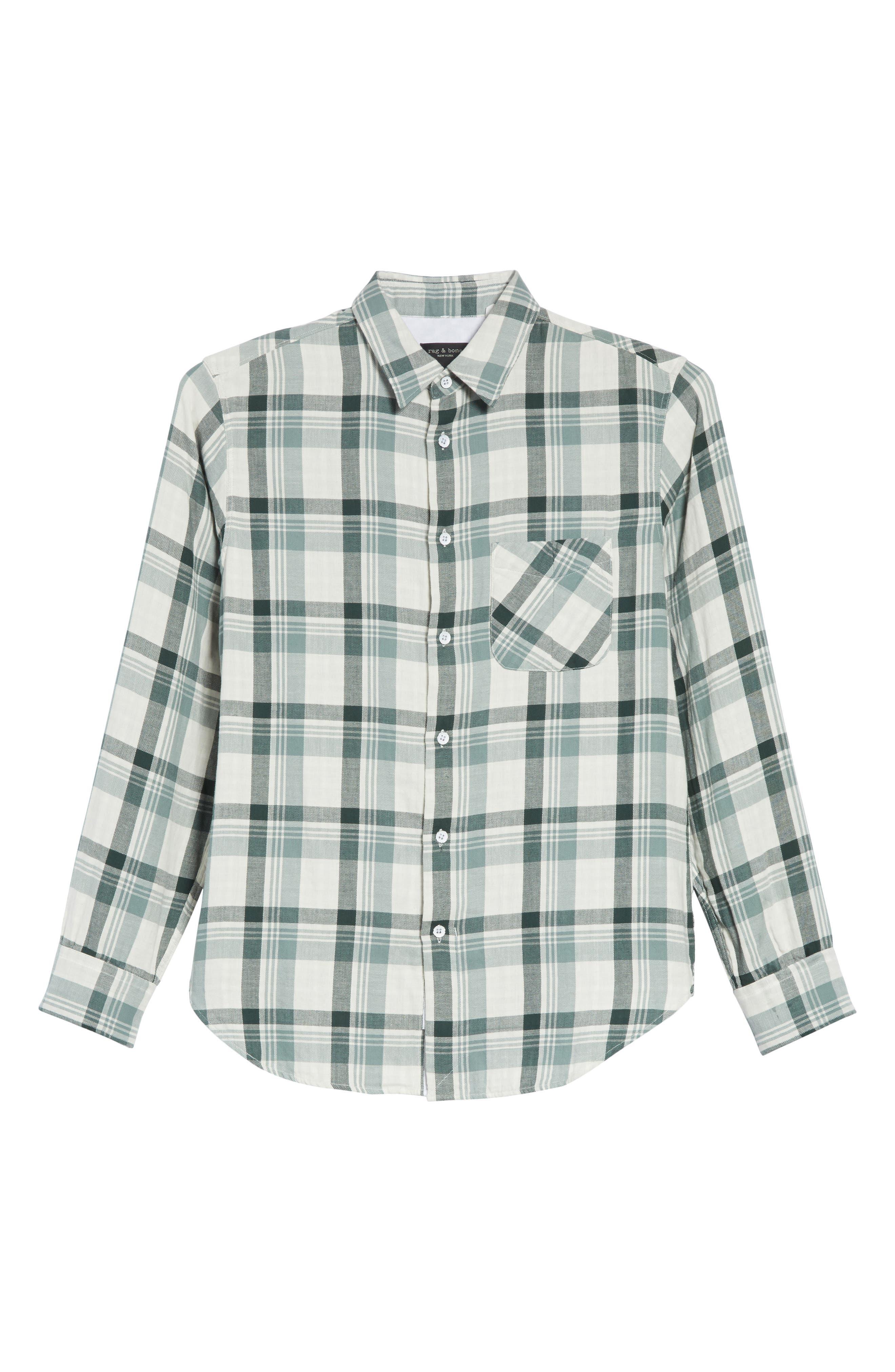 Plaid Woven Shirt,                             Alternate thumbnail 6, color,                             320