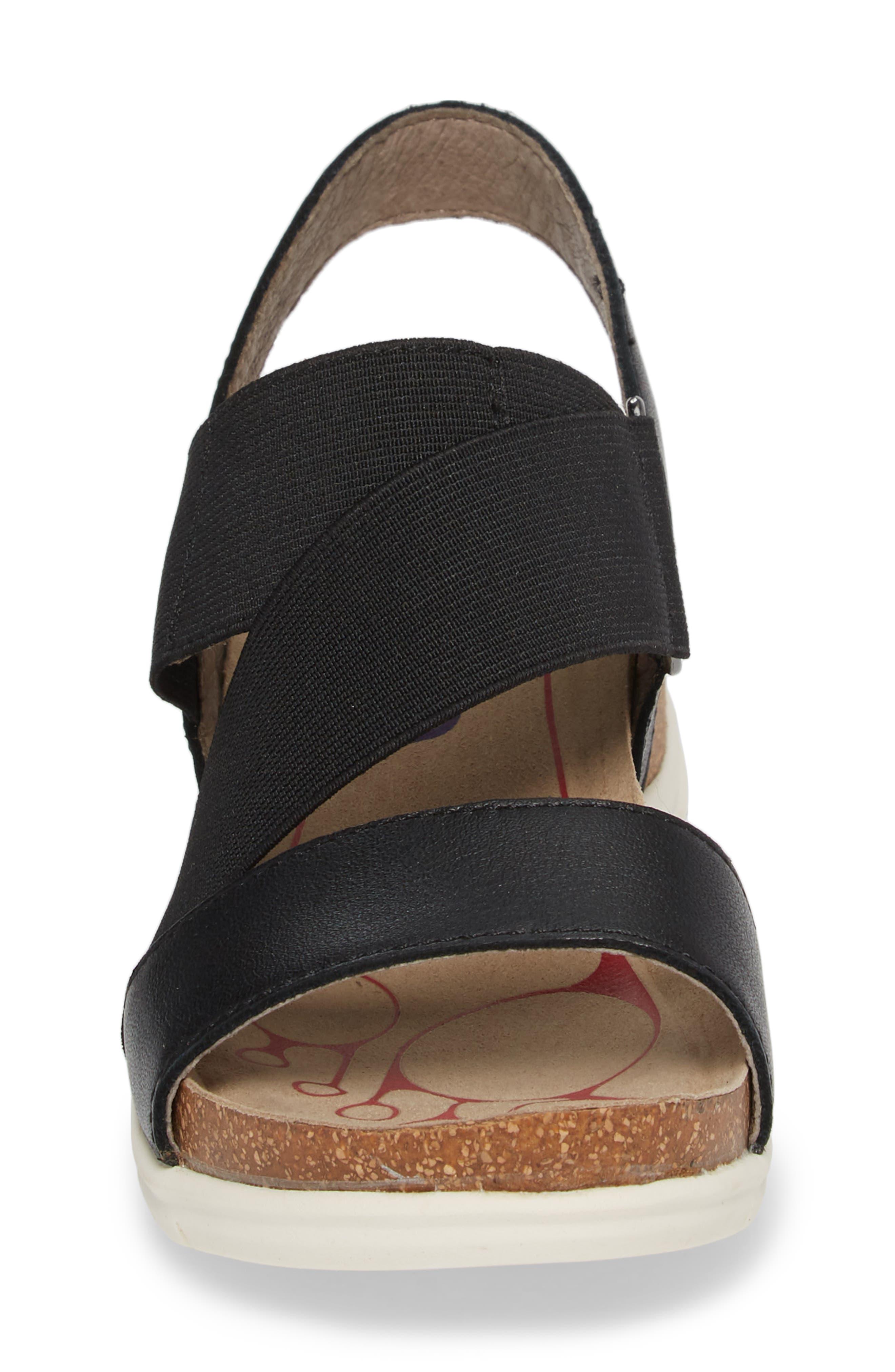 Paisley Wedge Sandal,                             Alternate thumbnail 4, color,                             001