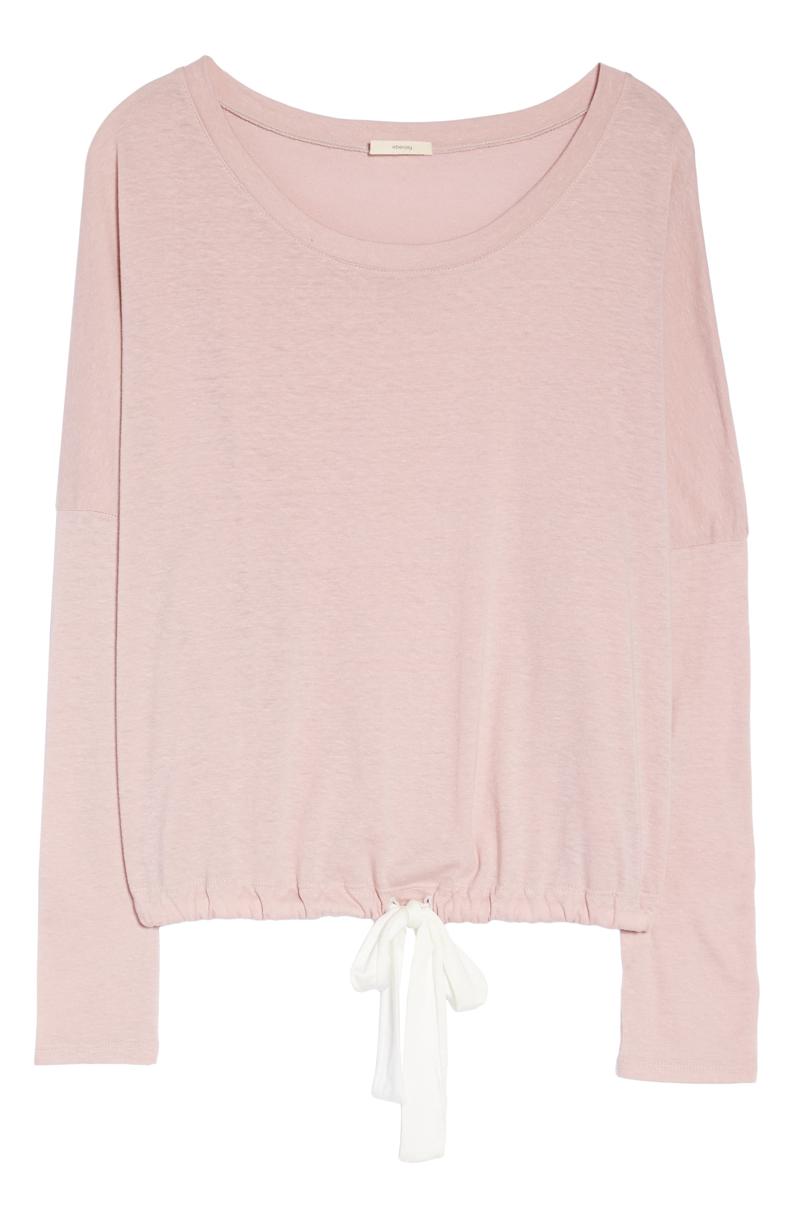 Heather Knit Slouchy Tee,                             Alternate thumbnail 6, color,                             CASHMERE ROSE