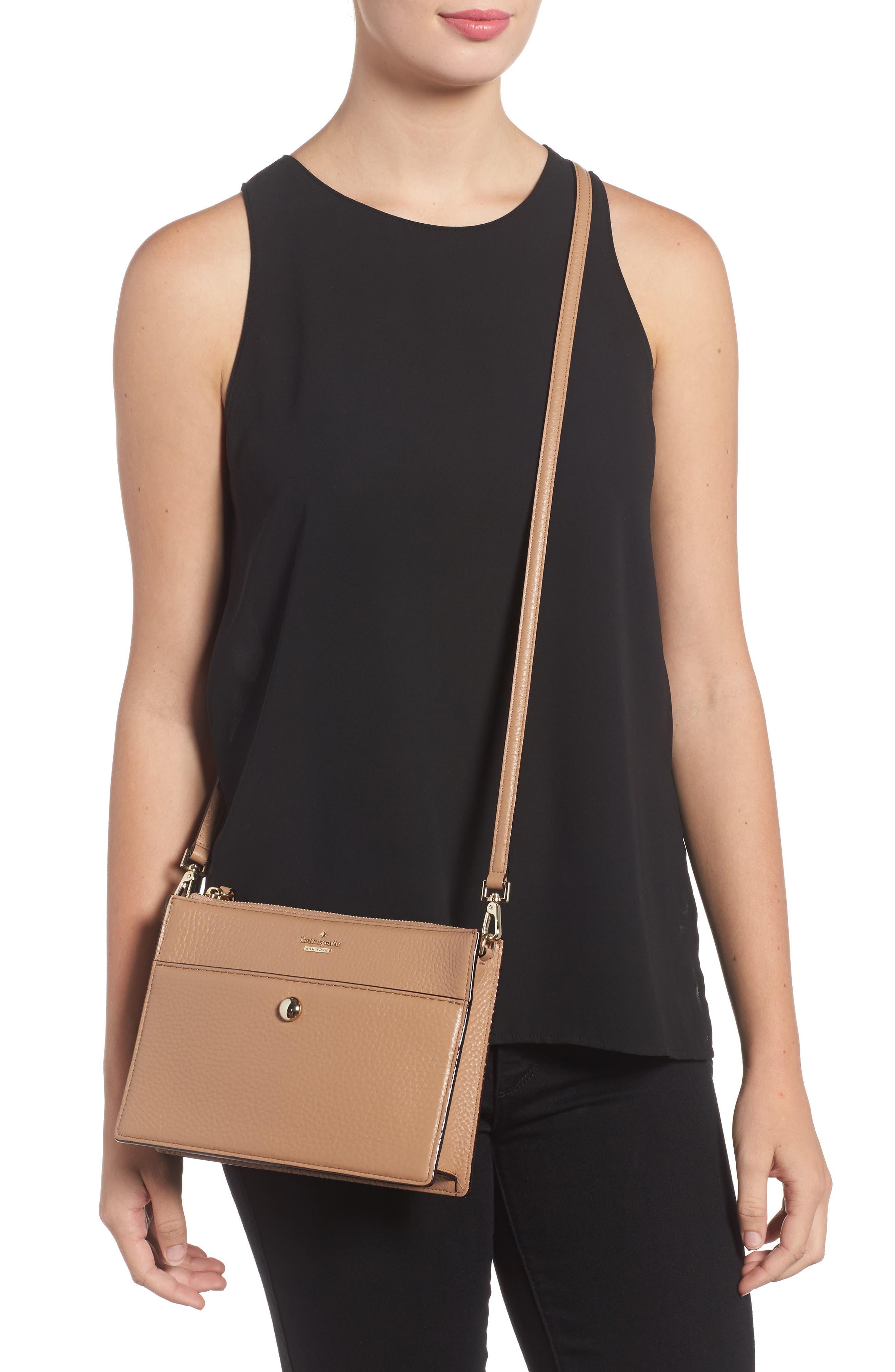steward street clarise leather shoulder bag,                             Alternate thumbnail 5, color,