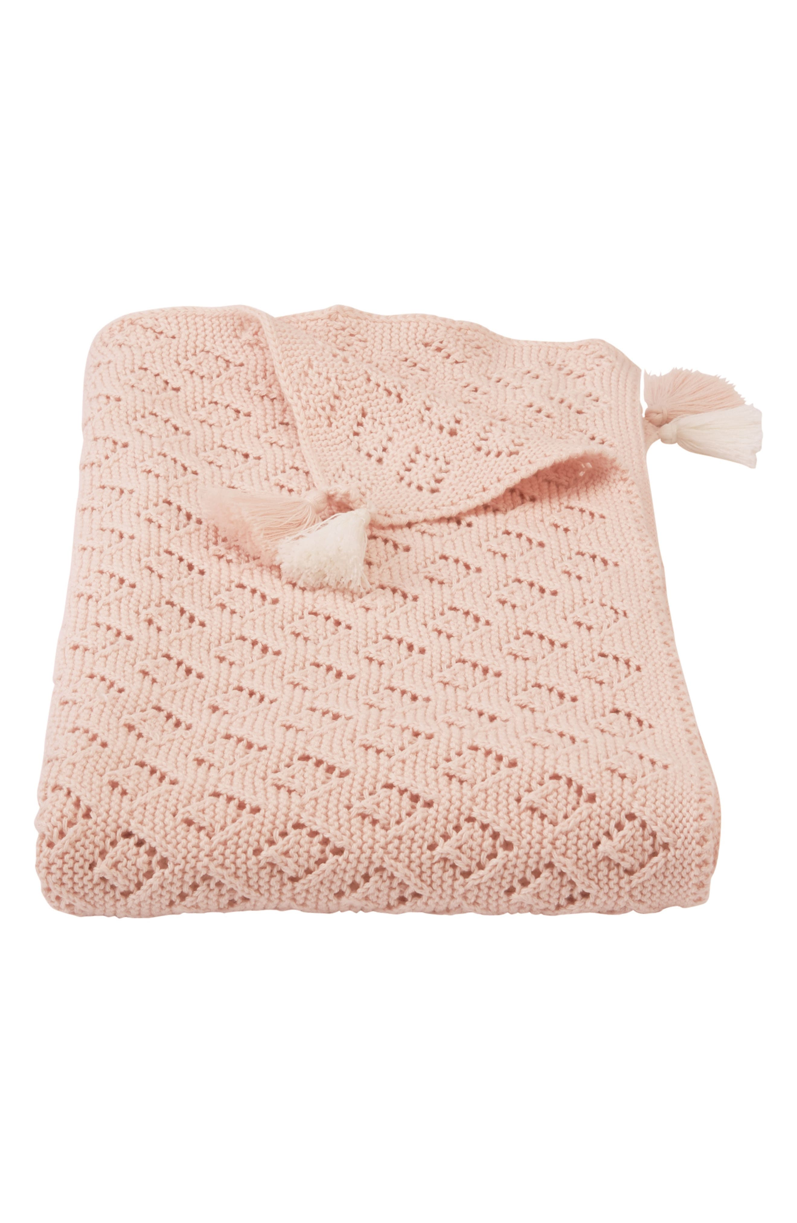 Pointelle Knit Blanket,                         Main,                         color, 650