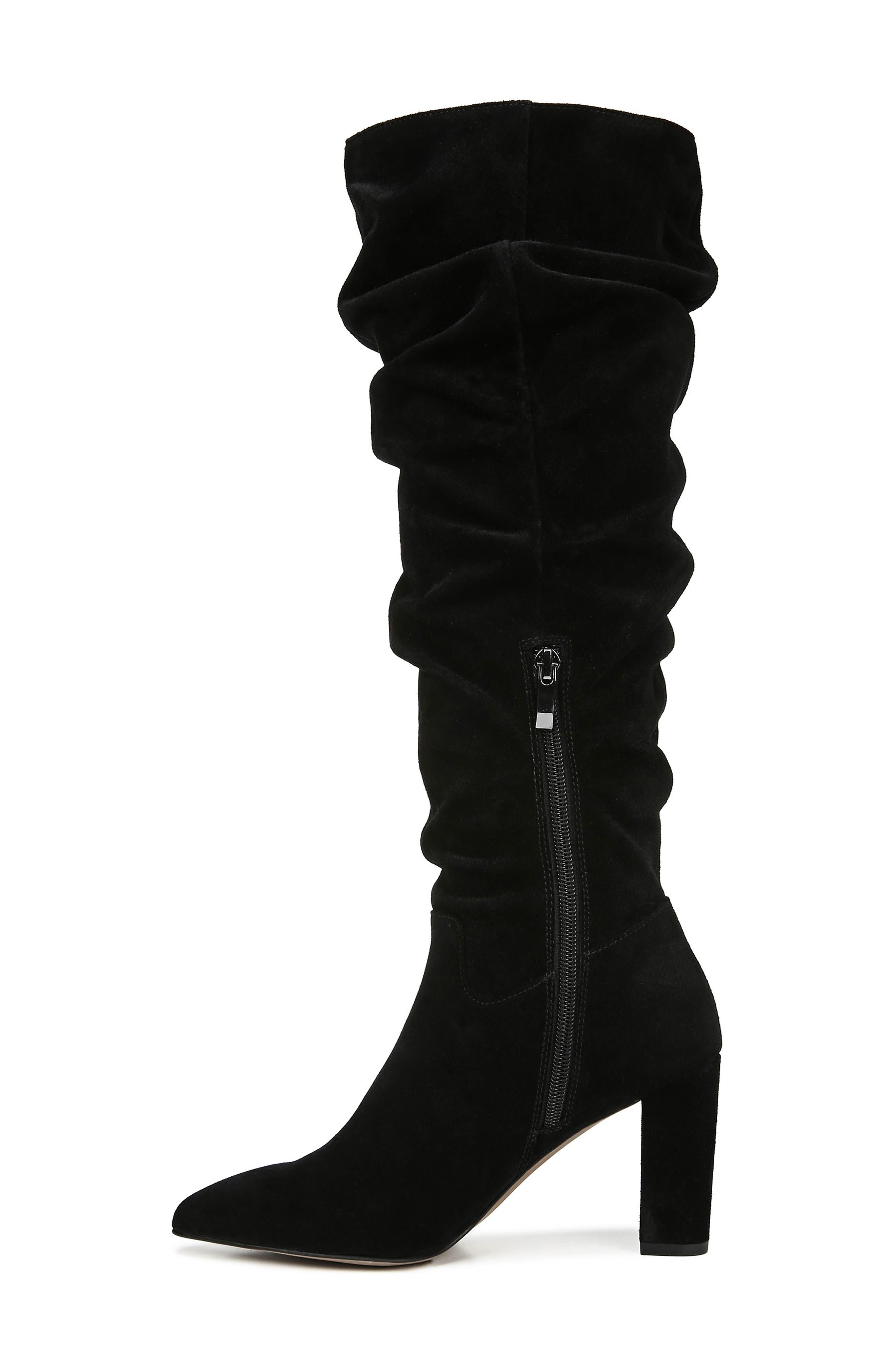 Artesia Knee High Boot,                             Alternate thumbnail 9, color,                             BLACK SUEDE