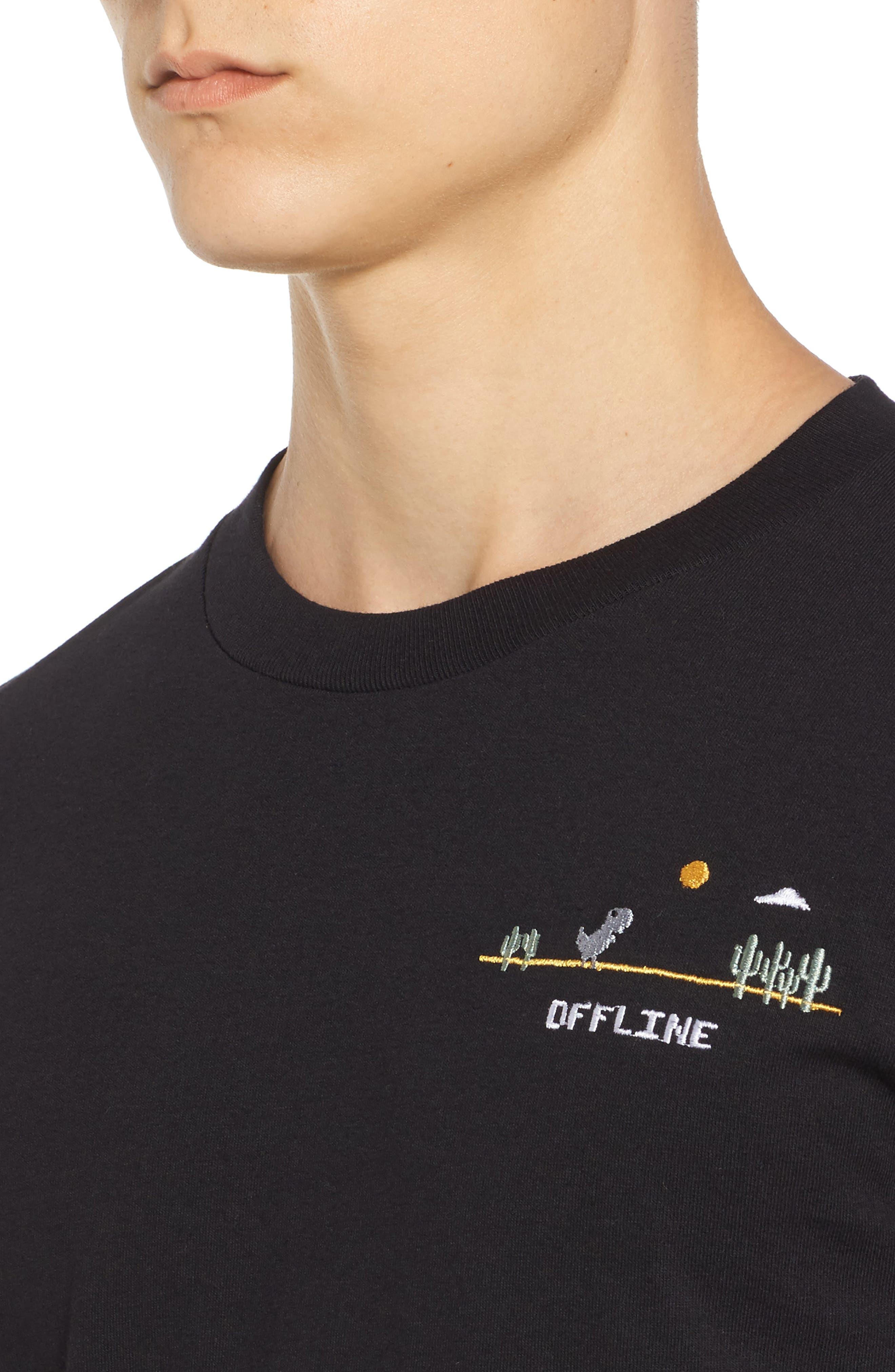 Dino Offline T-Shirt,                             Alternate thumbnail 4, color,                             001