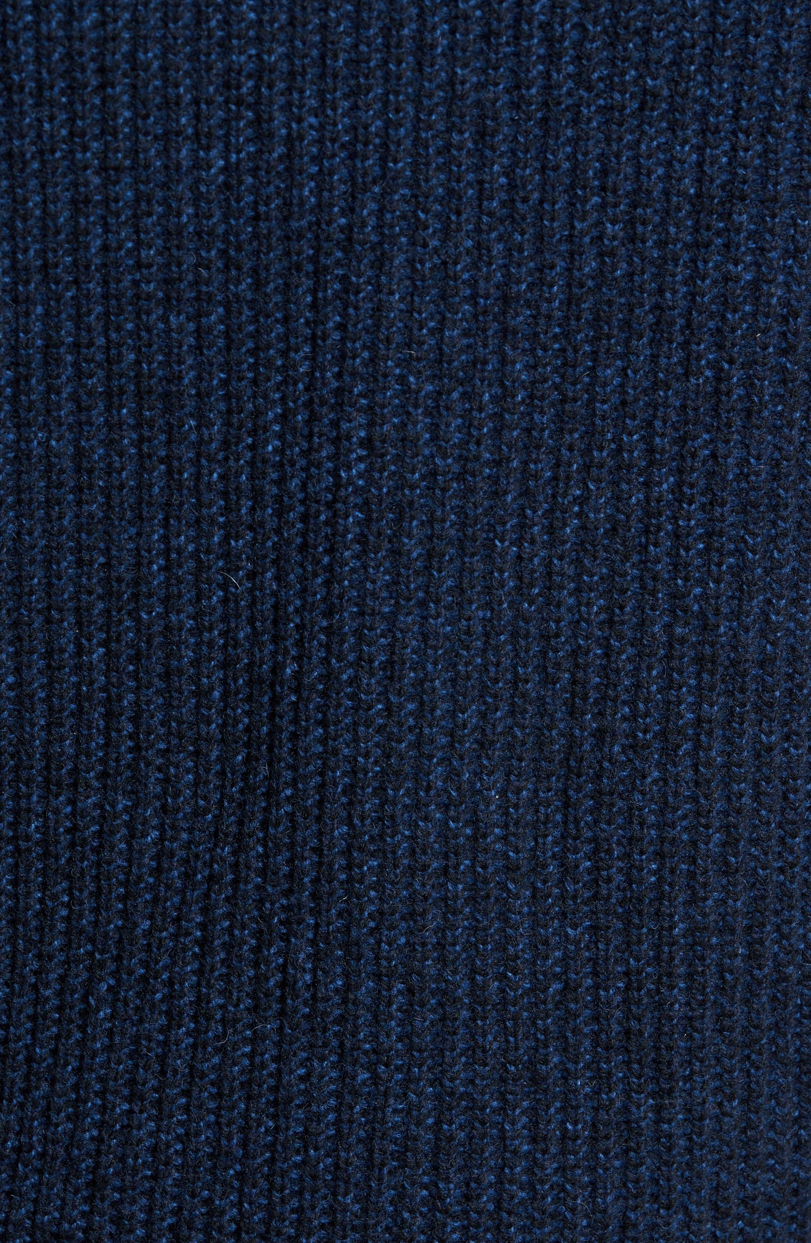 Fratley Lambswool Blend Cardigan,                             Alternate thumbnail 5, color,                             MARINE