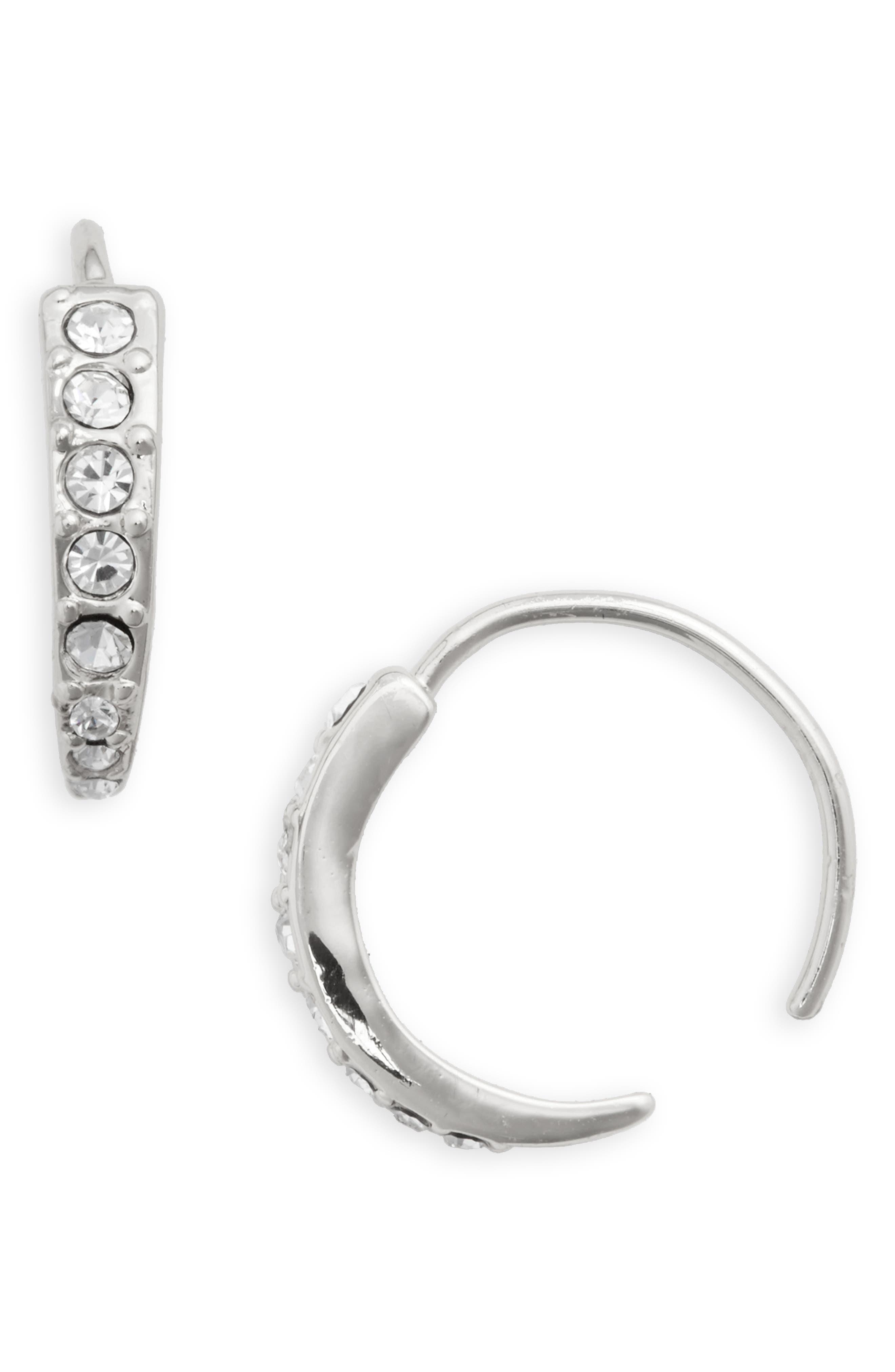 Pavé Hoop Earrings,                         Main,                         color, 040