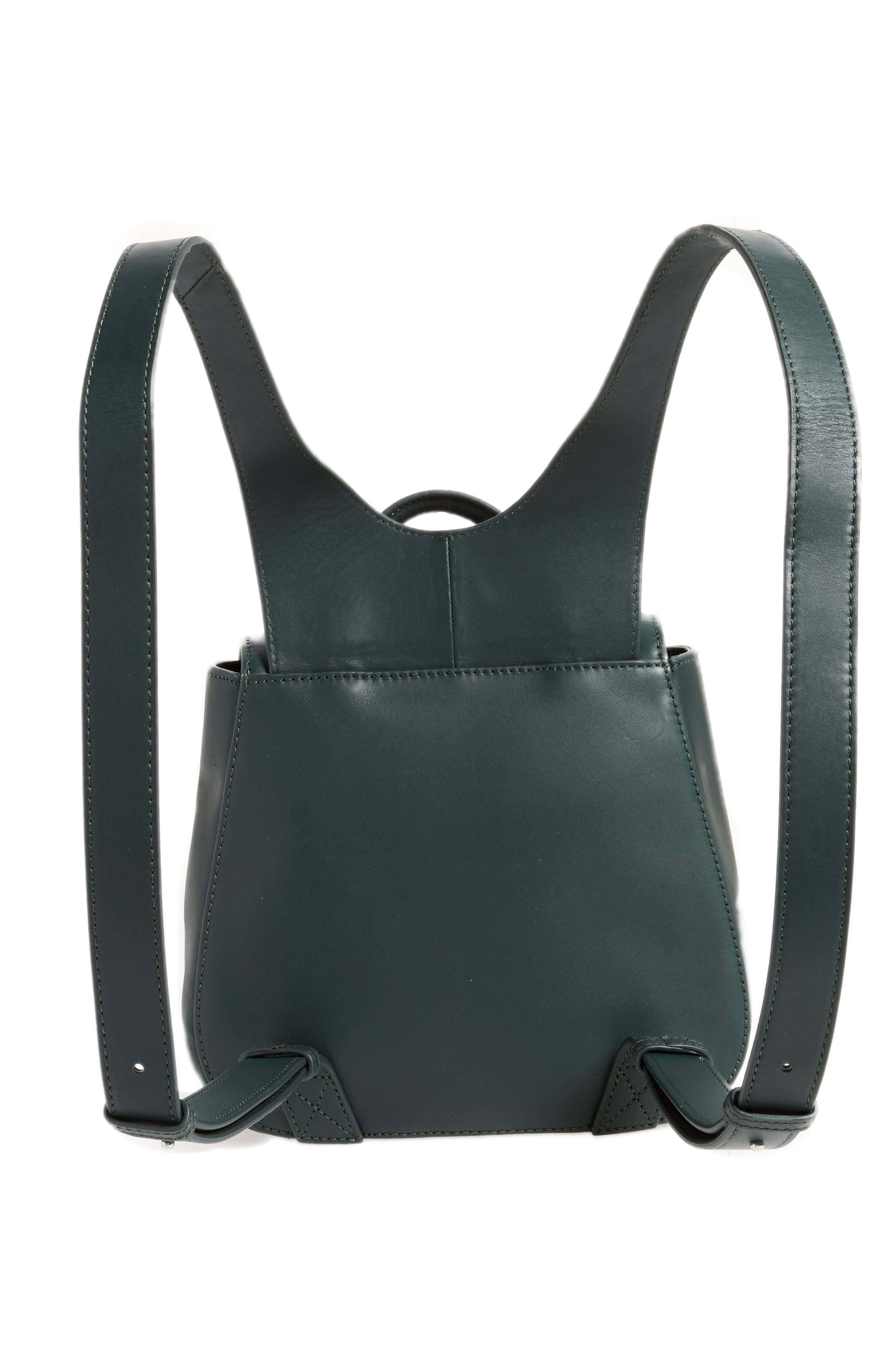 Small Kate Convertible Leather Backpack,                             Alternate thumbnail 3, color,                             300