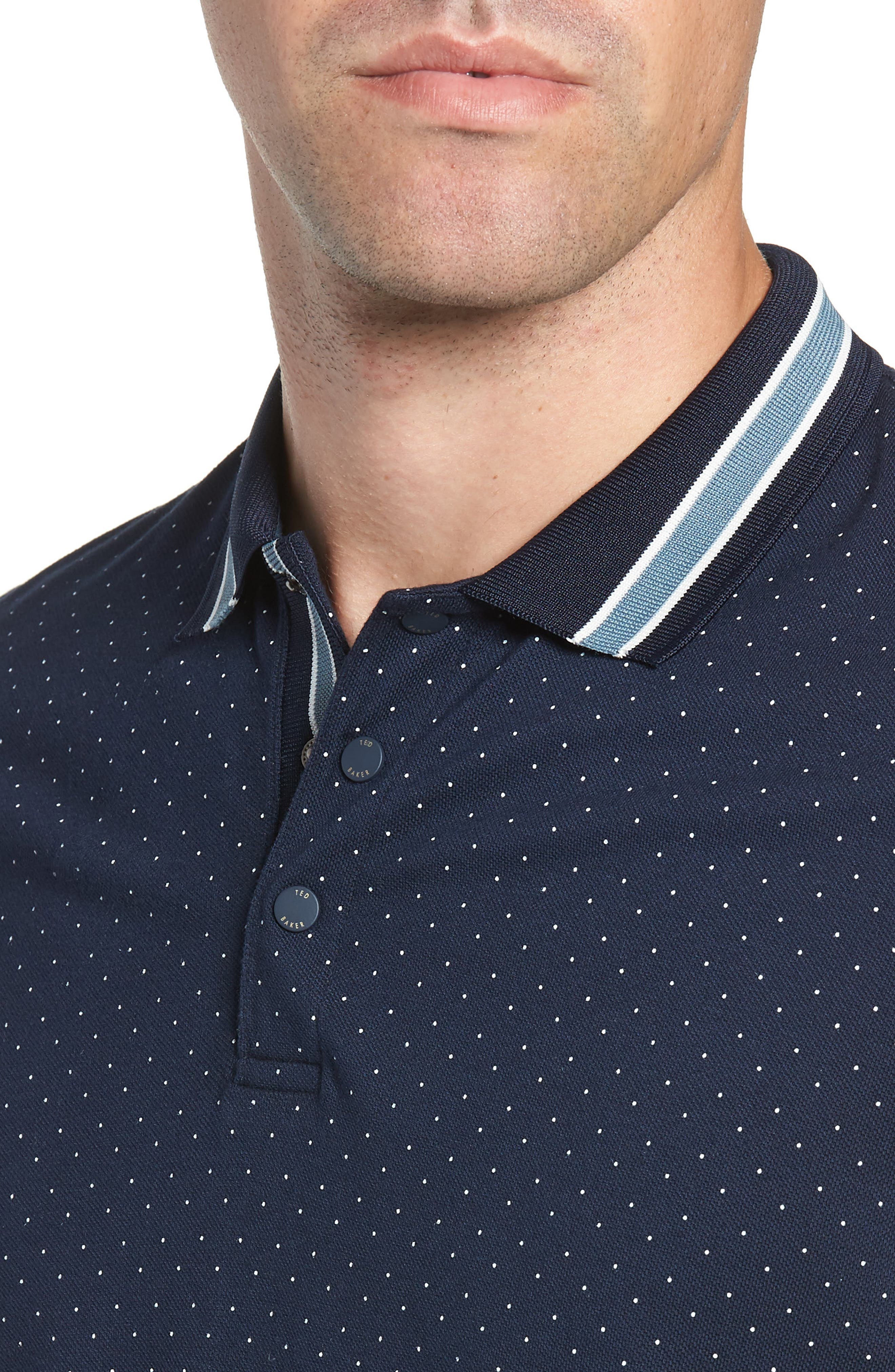 Museo Slim Fit Tipped Piqué Polo,                             Alternate thumbnail 4, color,                             410