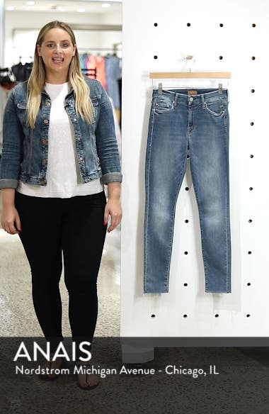 'The Looker' Fray Ankle Jeans, sales video thumbnail