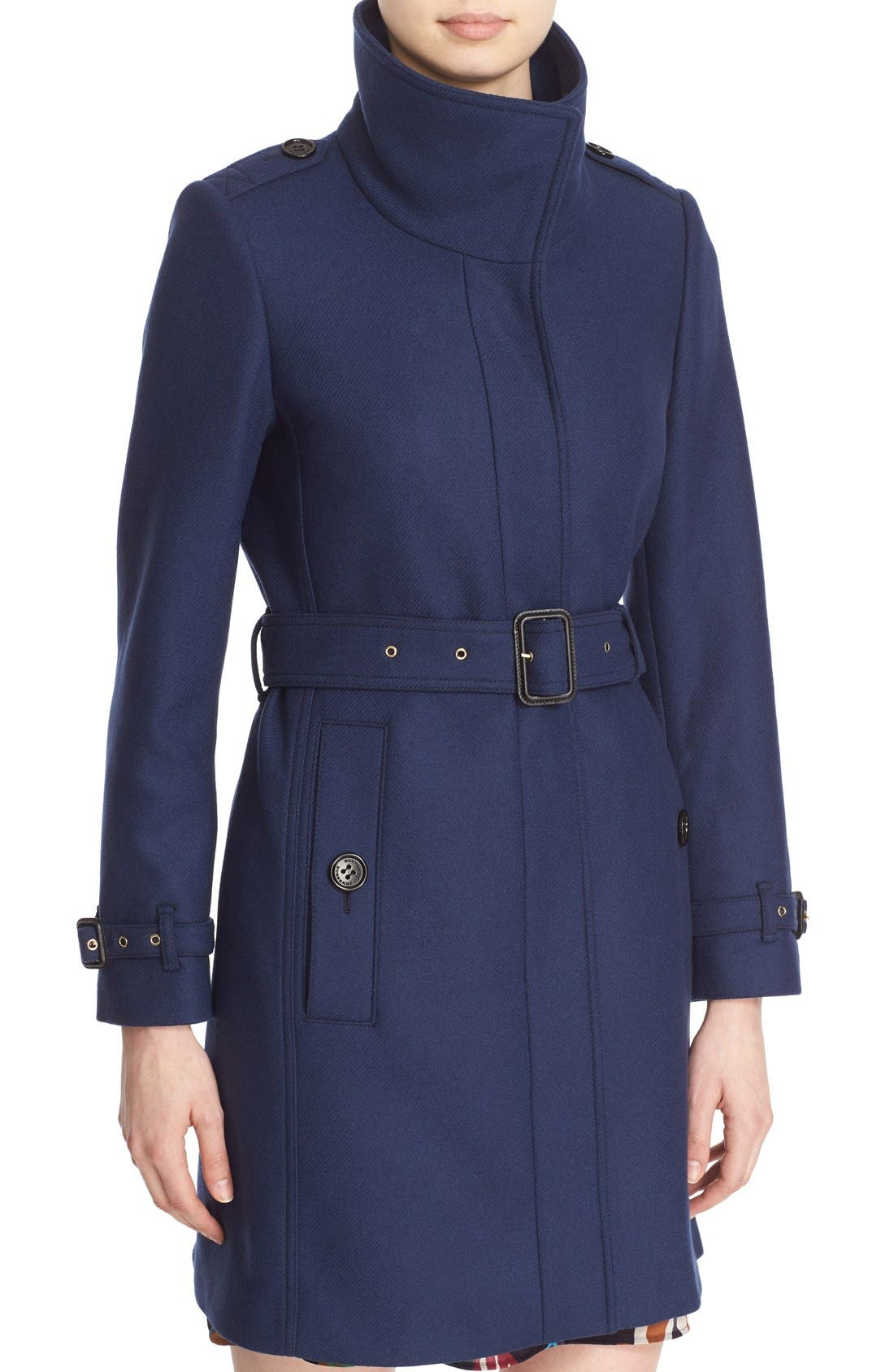 Gibbsmoore Funnel Collar Trench Coat,                             Alternate thumbnail 7, color,                             466