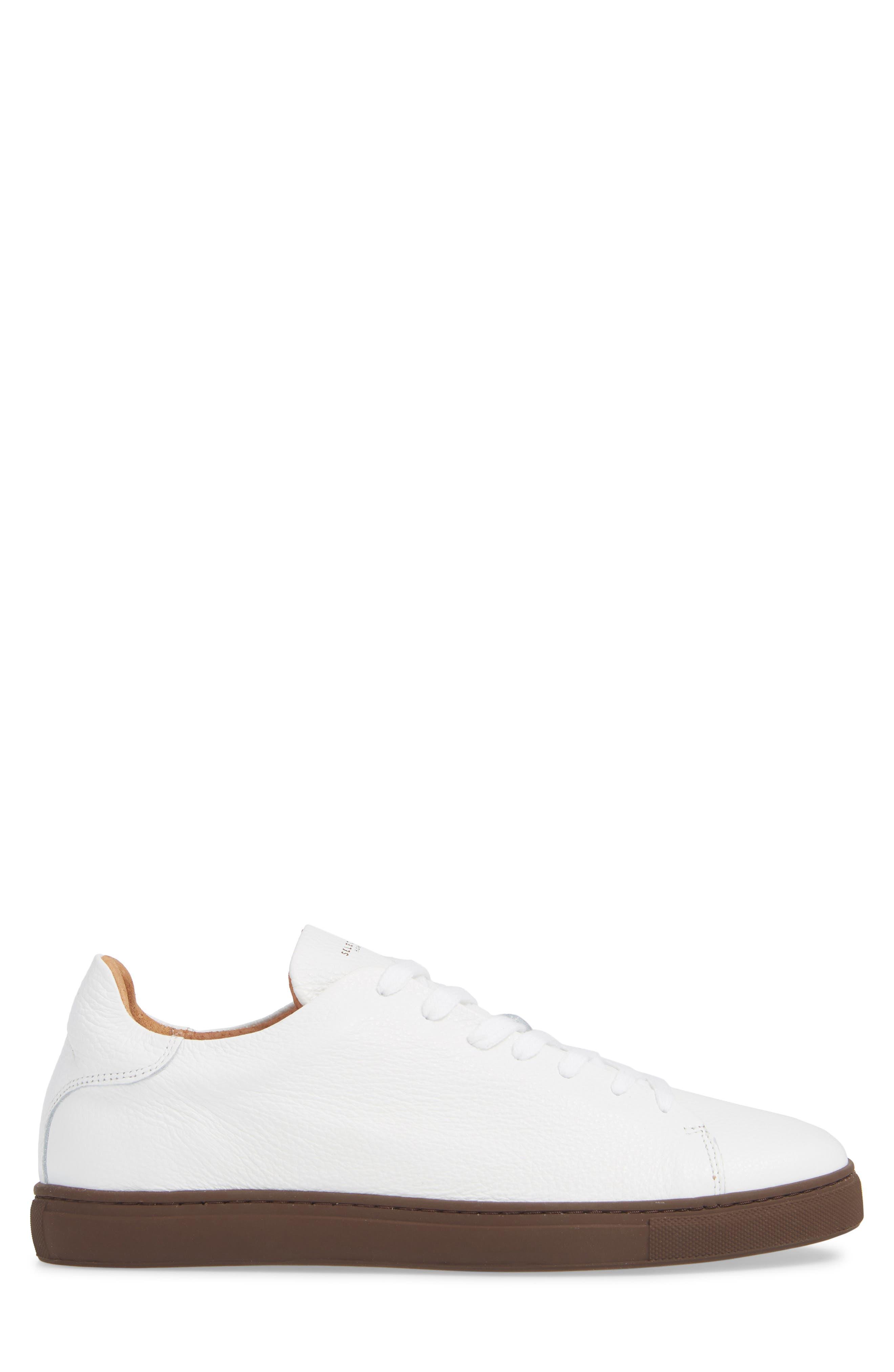 David Sneaker,                             Alternate thumbnail 3, color,                             WHITE/ BURGUNDY SOLE
