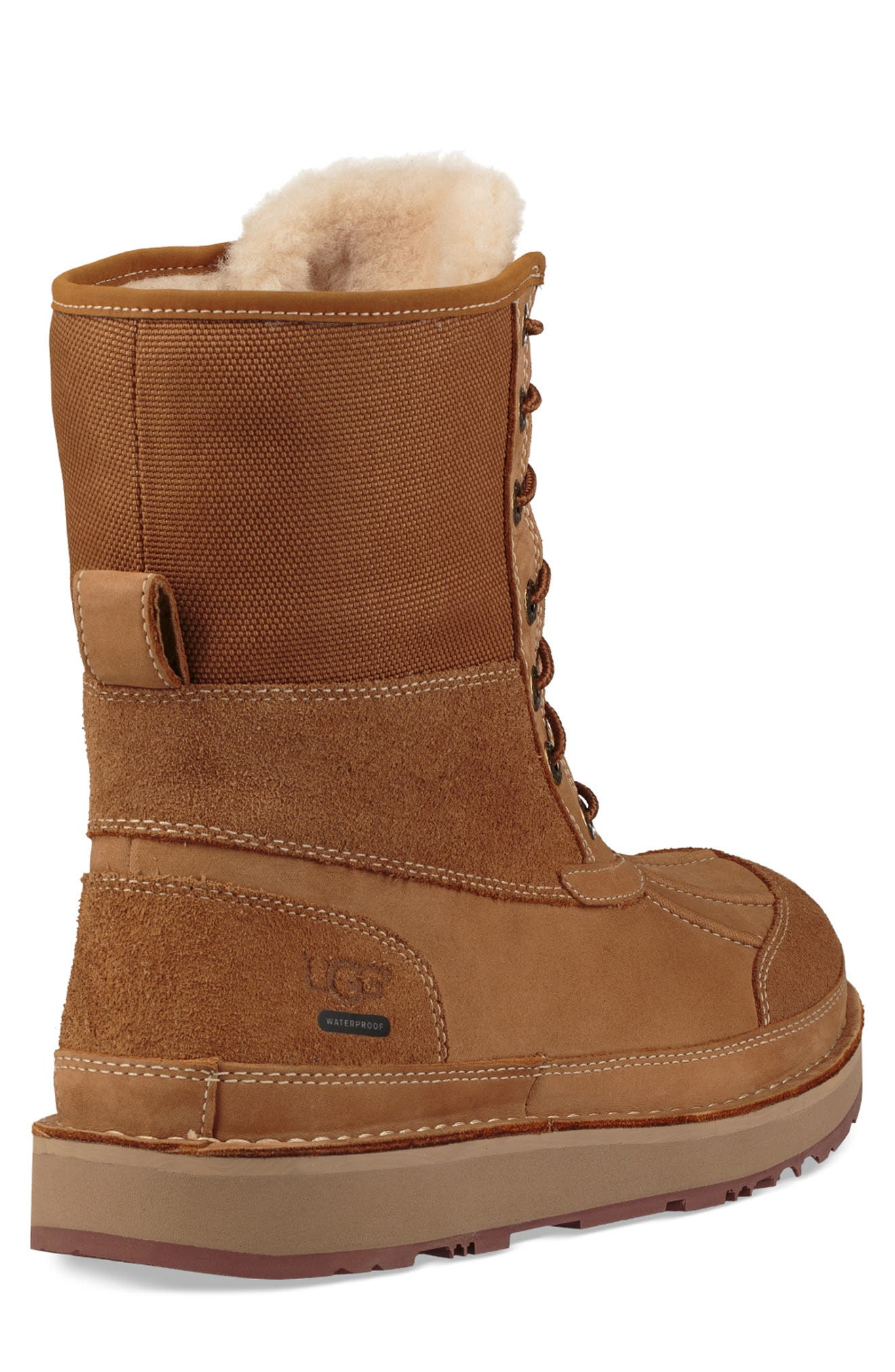 Avalanche Butte Waterproof Boot,                             Alternate thumbnail 3, color,                             CHESTNUT